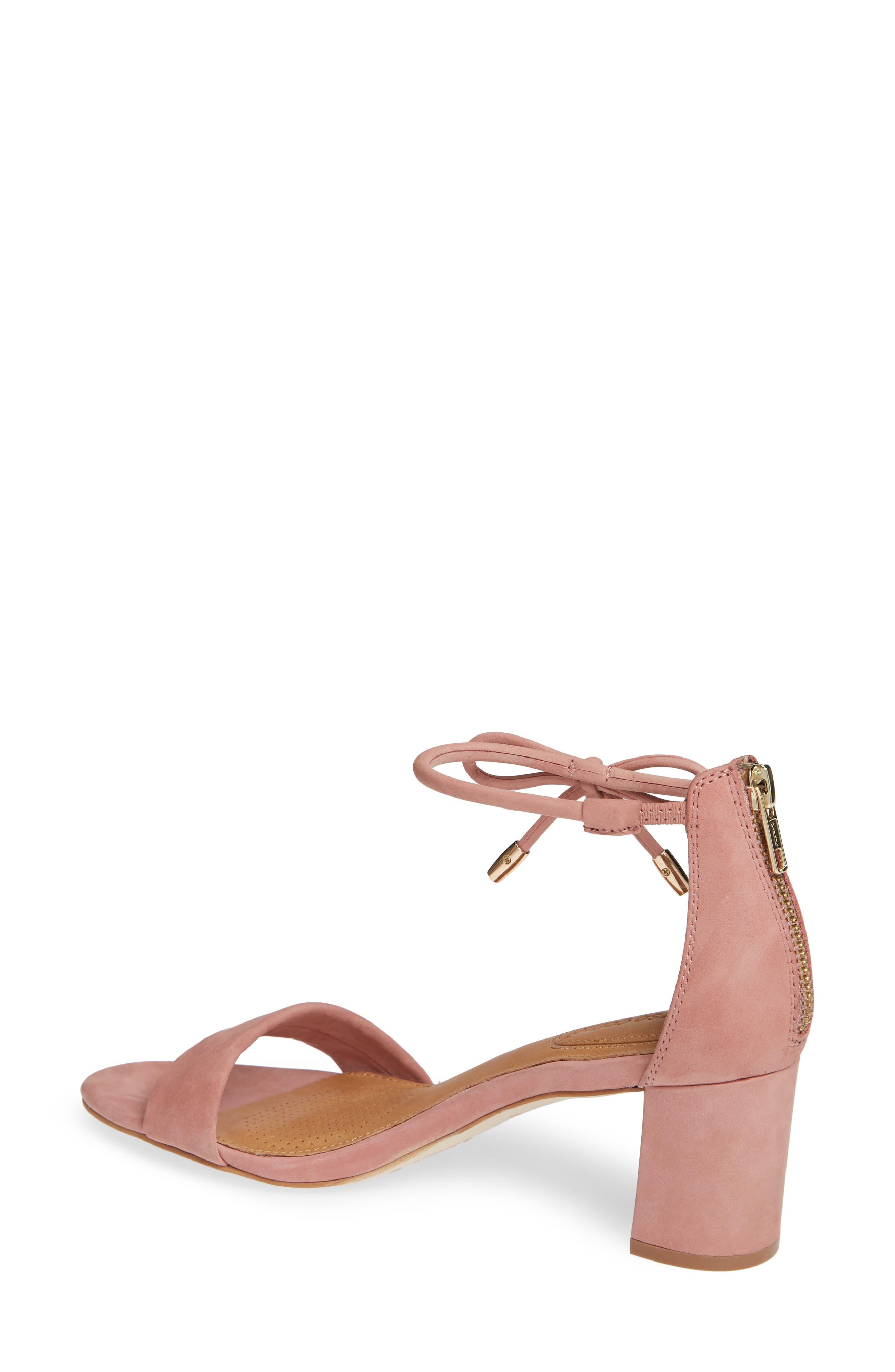 Celebratt Ankle Strap Sandal,                             Alternate thumbnail 2, color,                             OLD ROSE NUBUCK LEATHER
