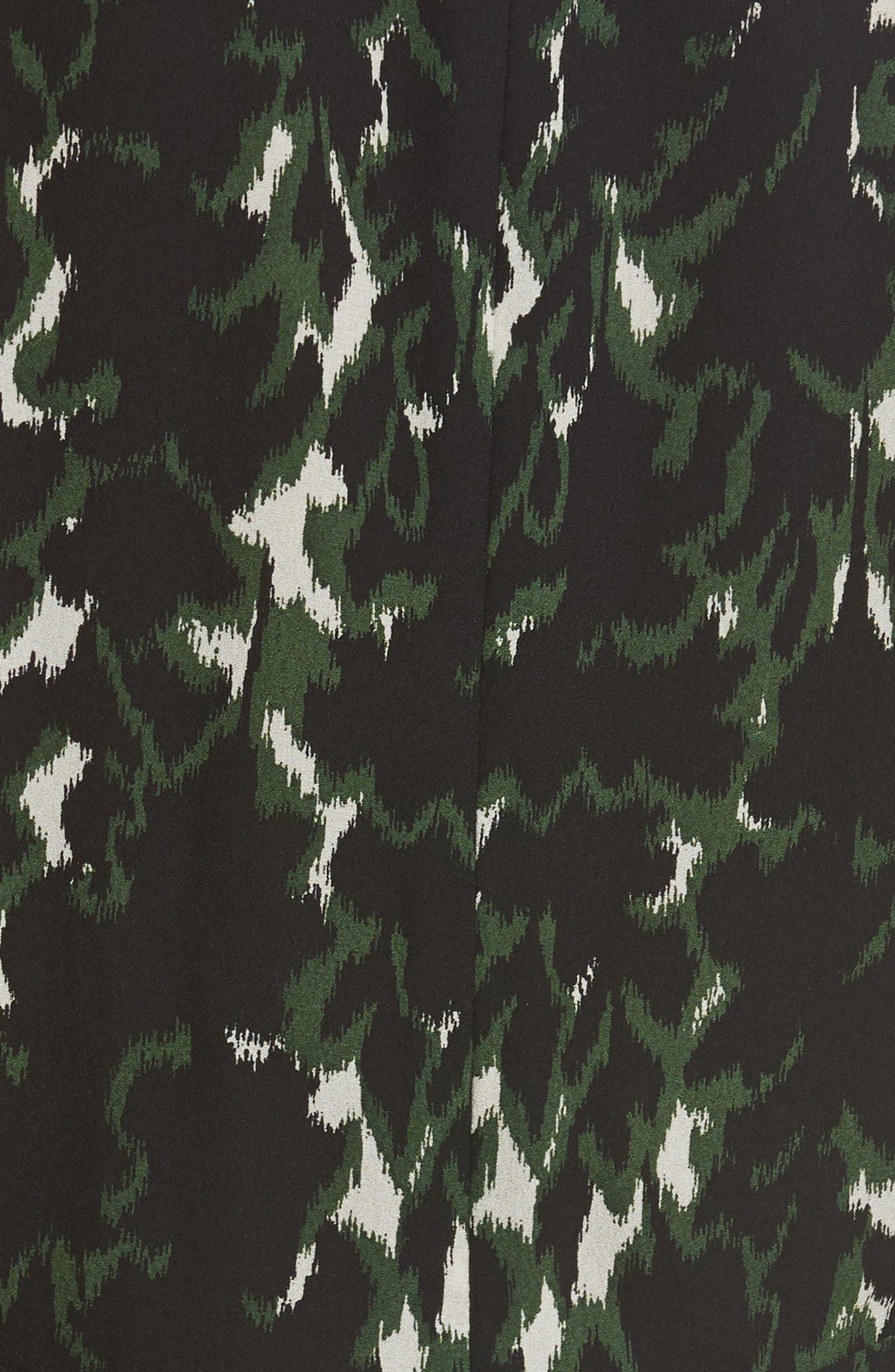 Wylon Print Silk Dress,                             Alternate thumbnail 5, color,                             301