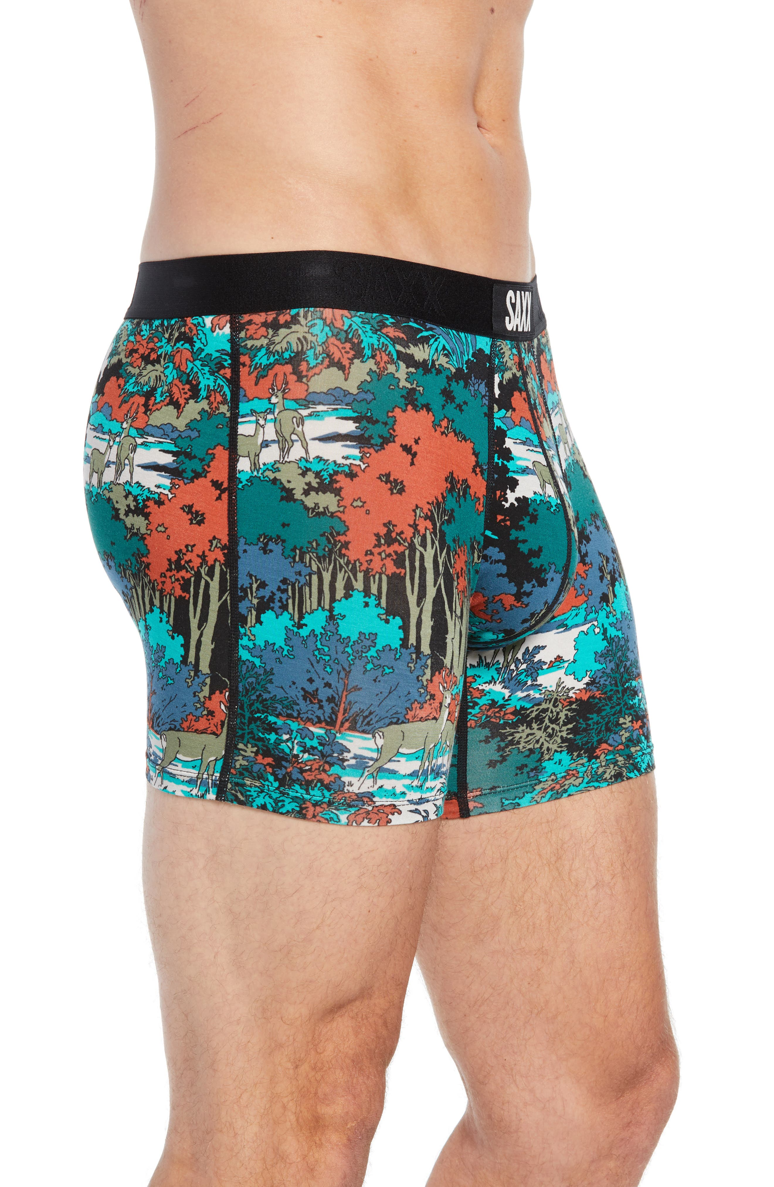 Vibe Deep Woods Trunks,                             Alternate thumbnail 3, color,                             TEAL DEEP WOODS