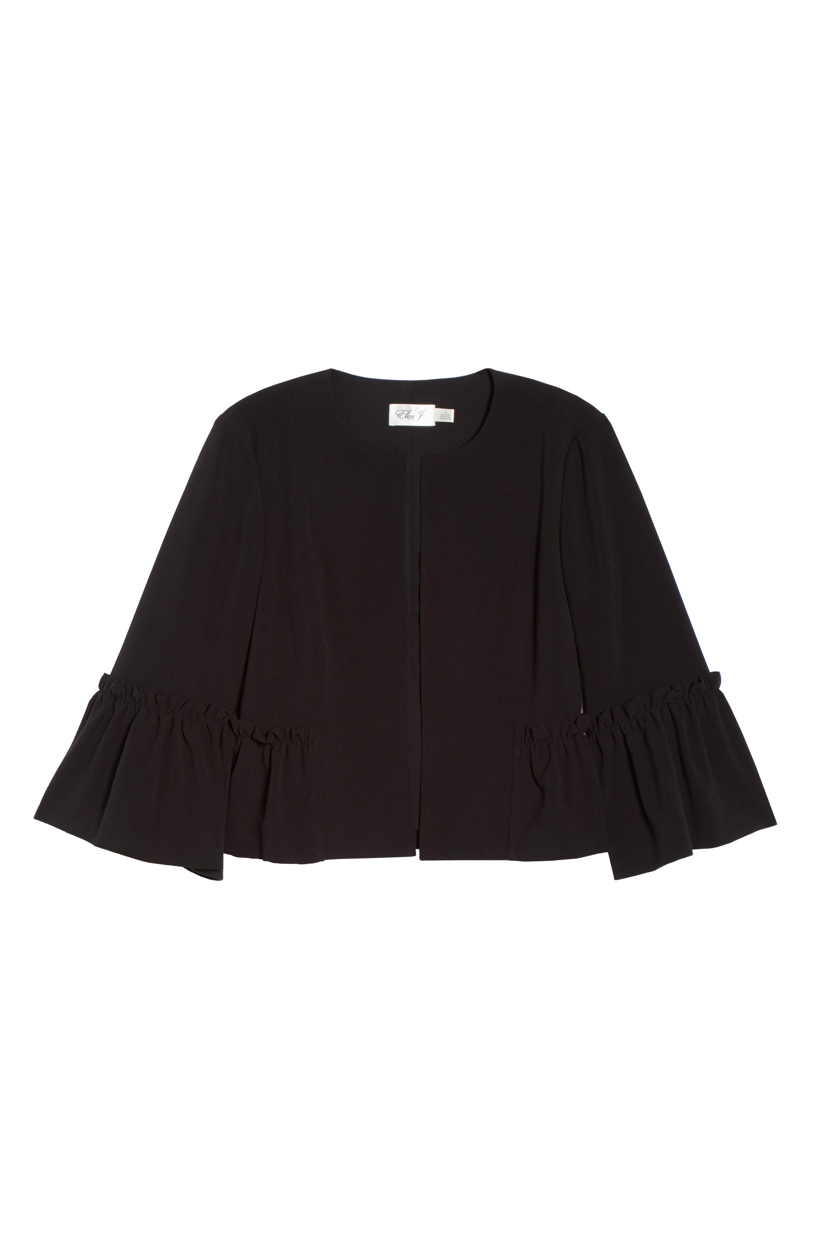 Bell Sleeve Crop Jacket,                             Alternate thumbnail 6, color,                             001