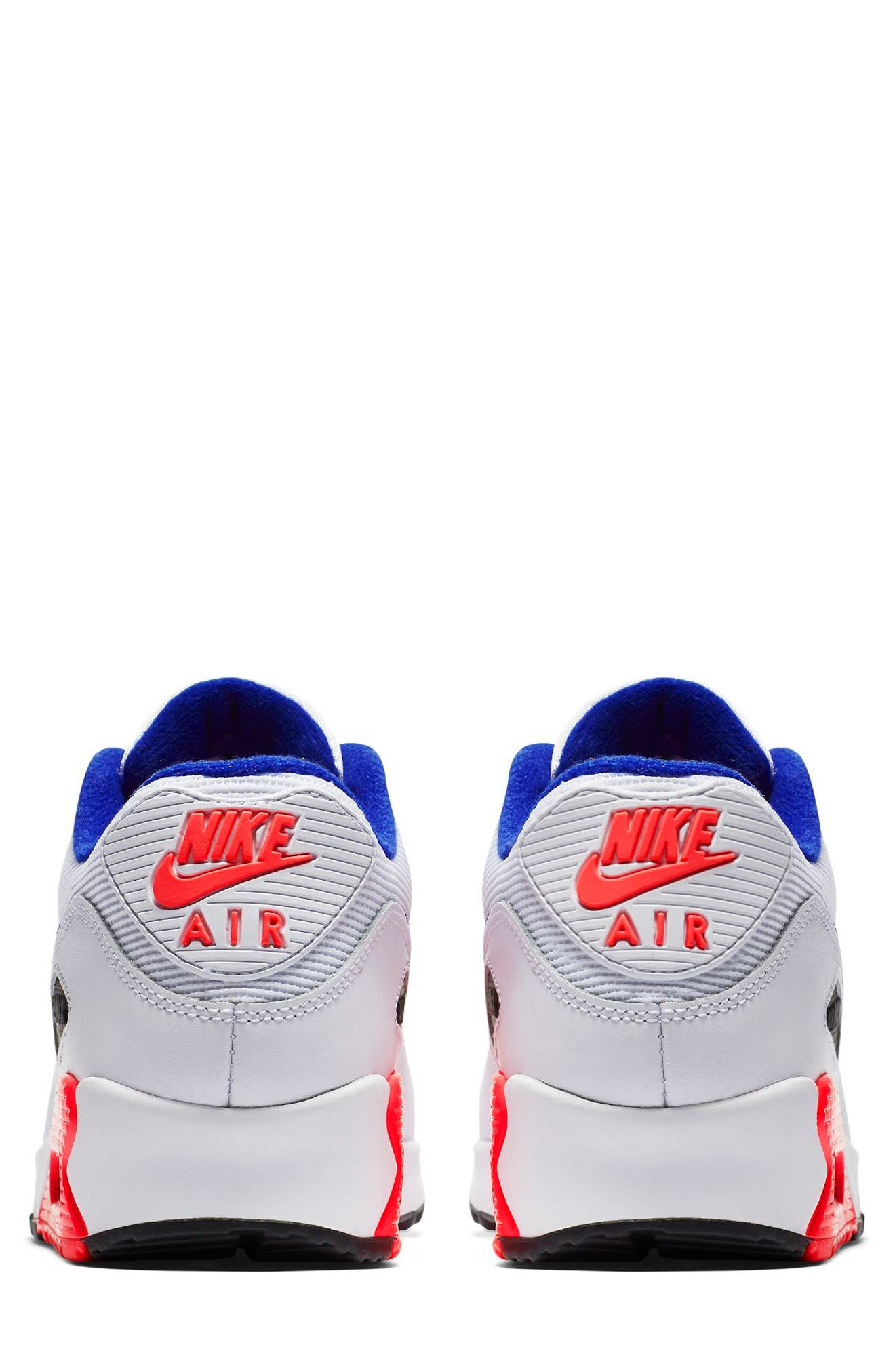Air Max 90 Essential Sneaker,                             Alternate thumbnail 2, color,                             WHITE/ ULTRAMARINE