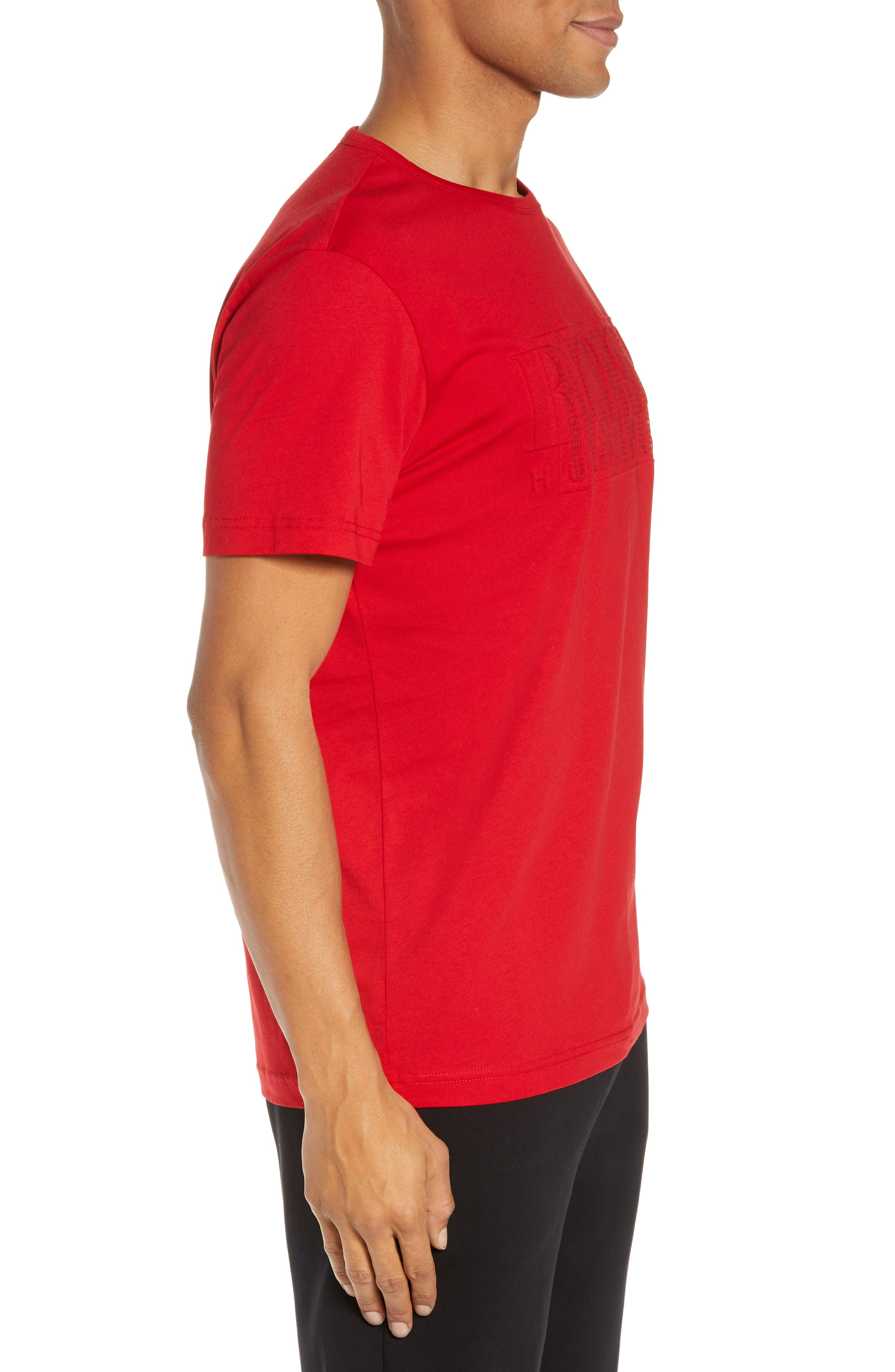 BOSS,                             CNY Regular Fit T-Shirt,                             Alternate thumbnail 3, color,                             RED