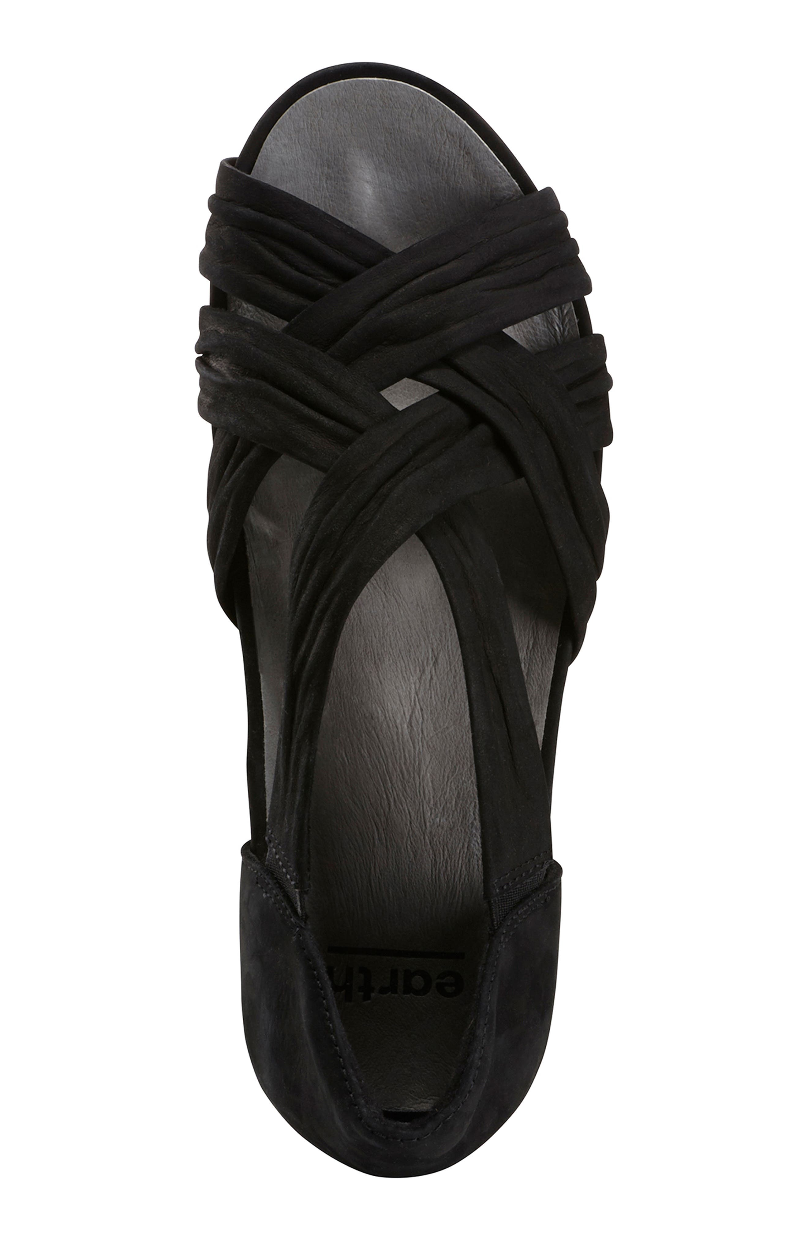 Gemini Sandal,                             Alternate thumbnail 5, color,                             BLACK LEATHER