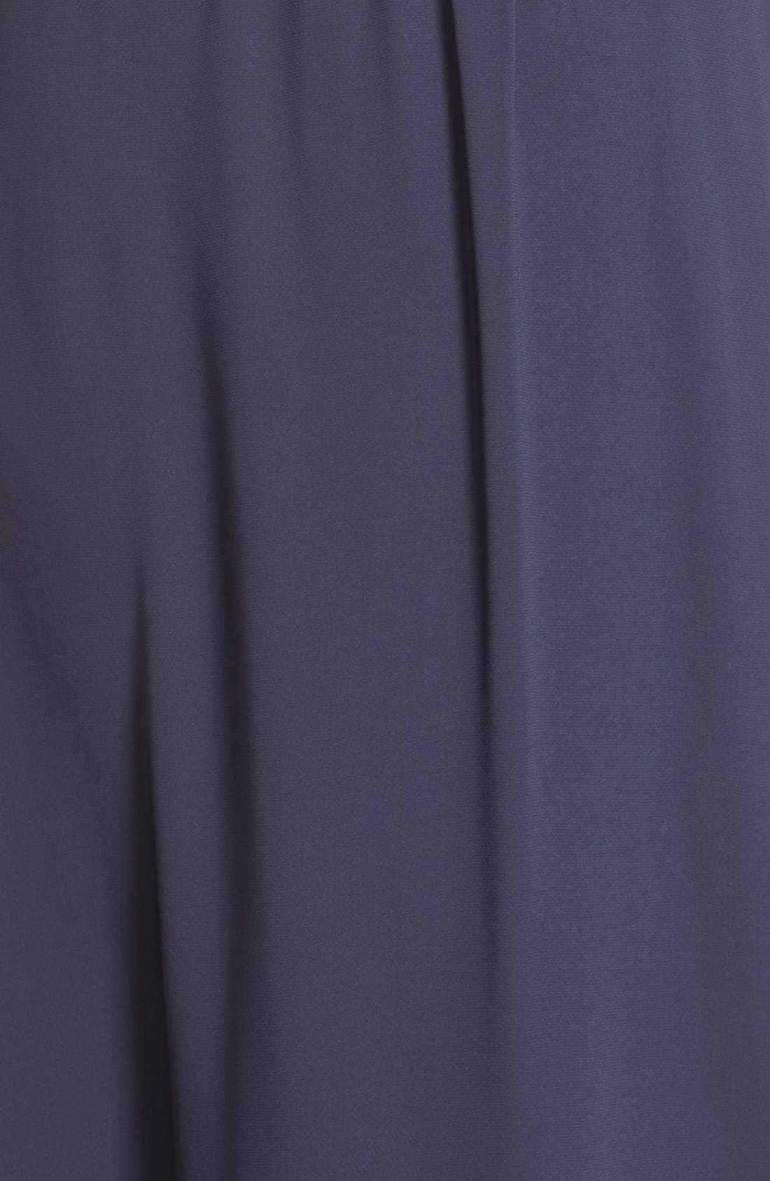 by Lauren Conrad 'Springfield' Cowl Neck Chiffon Gown,                             Alternate thumbnail 5, color,                             410