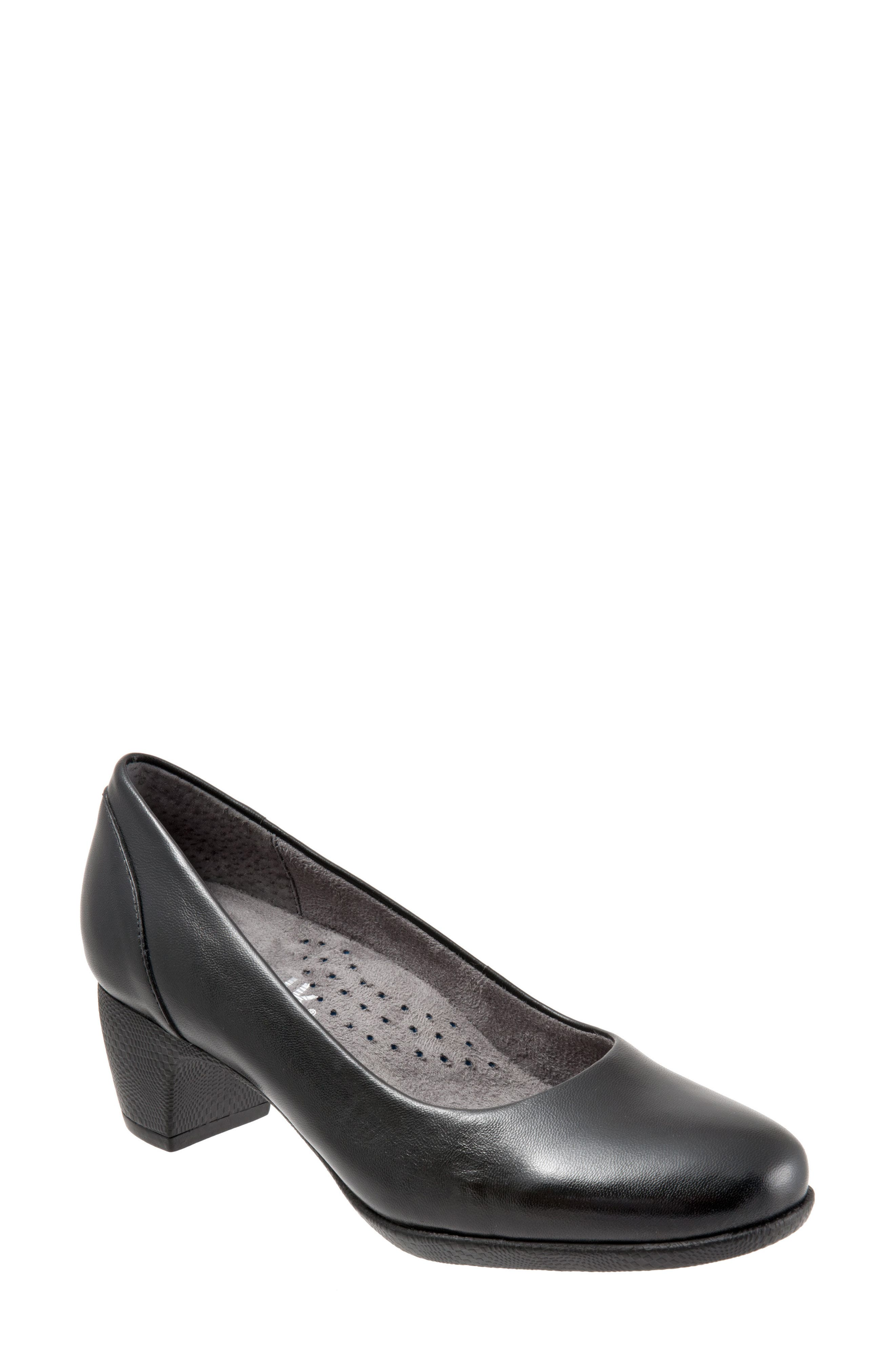 Imperial II Pump,                         Main,                         color, BLACK LEATHER