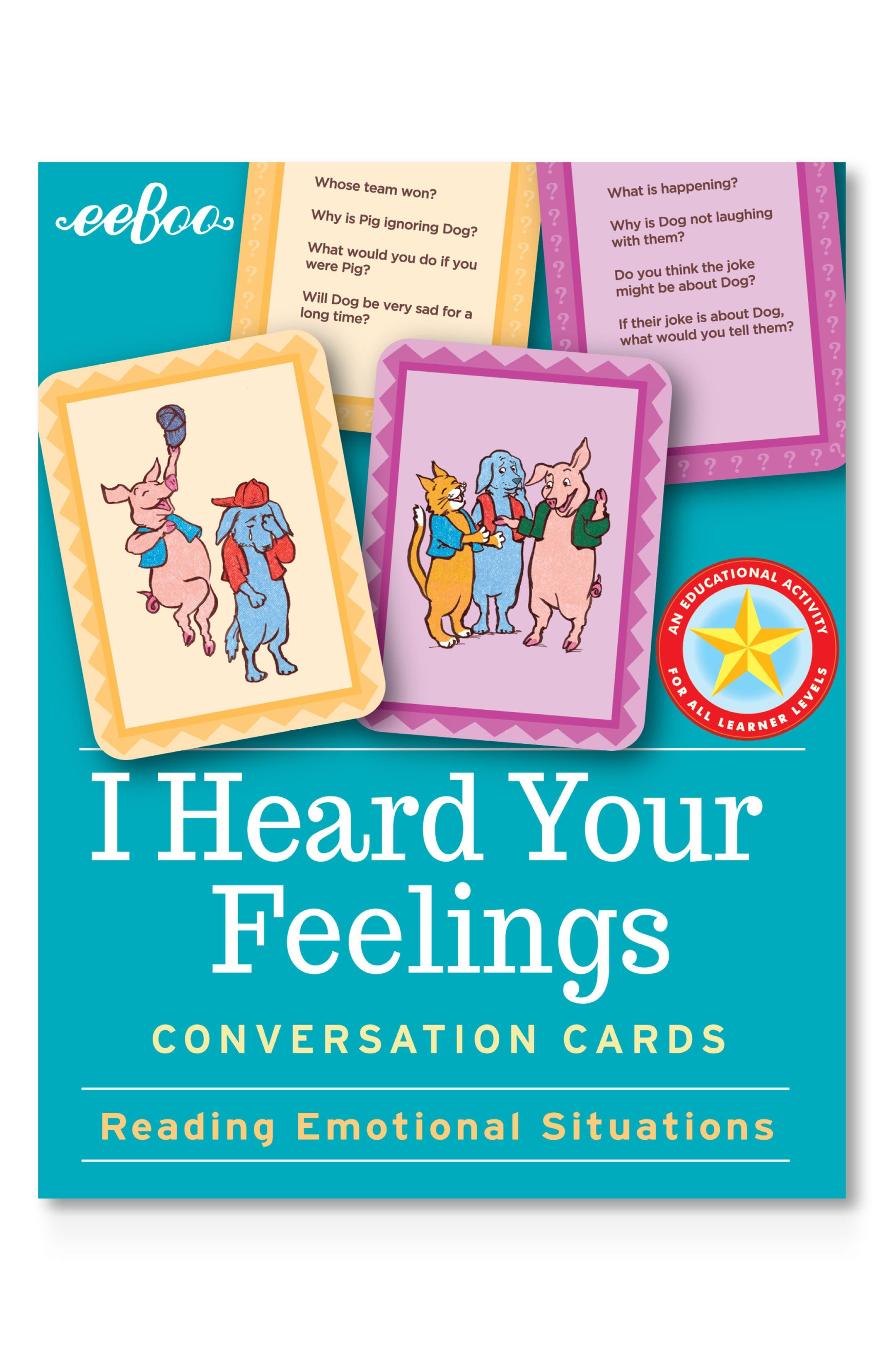 I Heard Your Feelings Conversation Cards, Main, color, 400