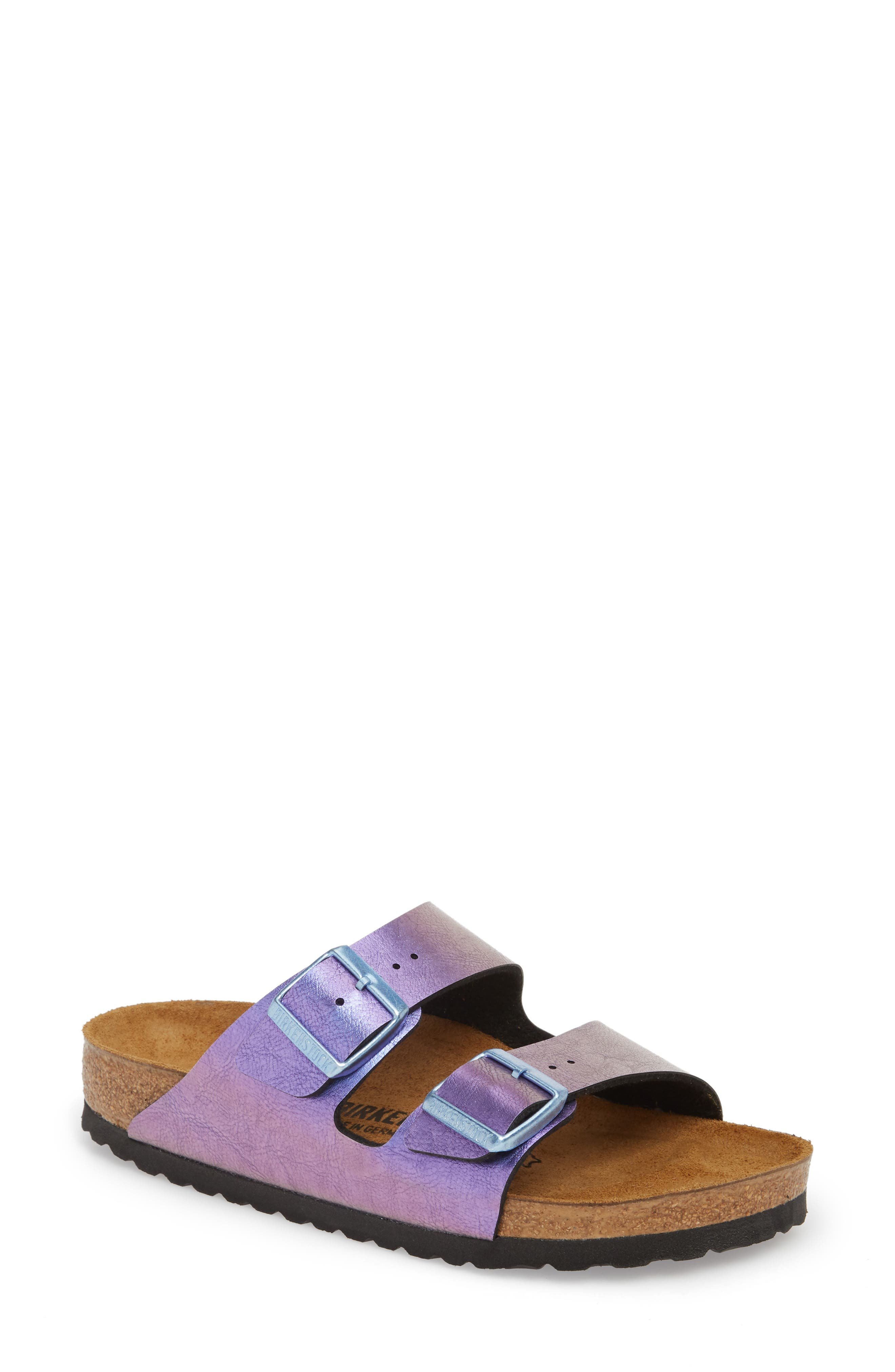 Arizona Graceful Birko-Flor<sup>™</sup> Sandal,                         Main,                         color, VIOLET