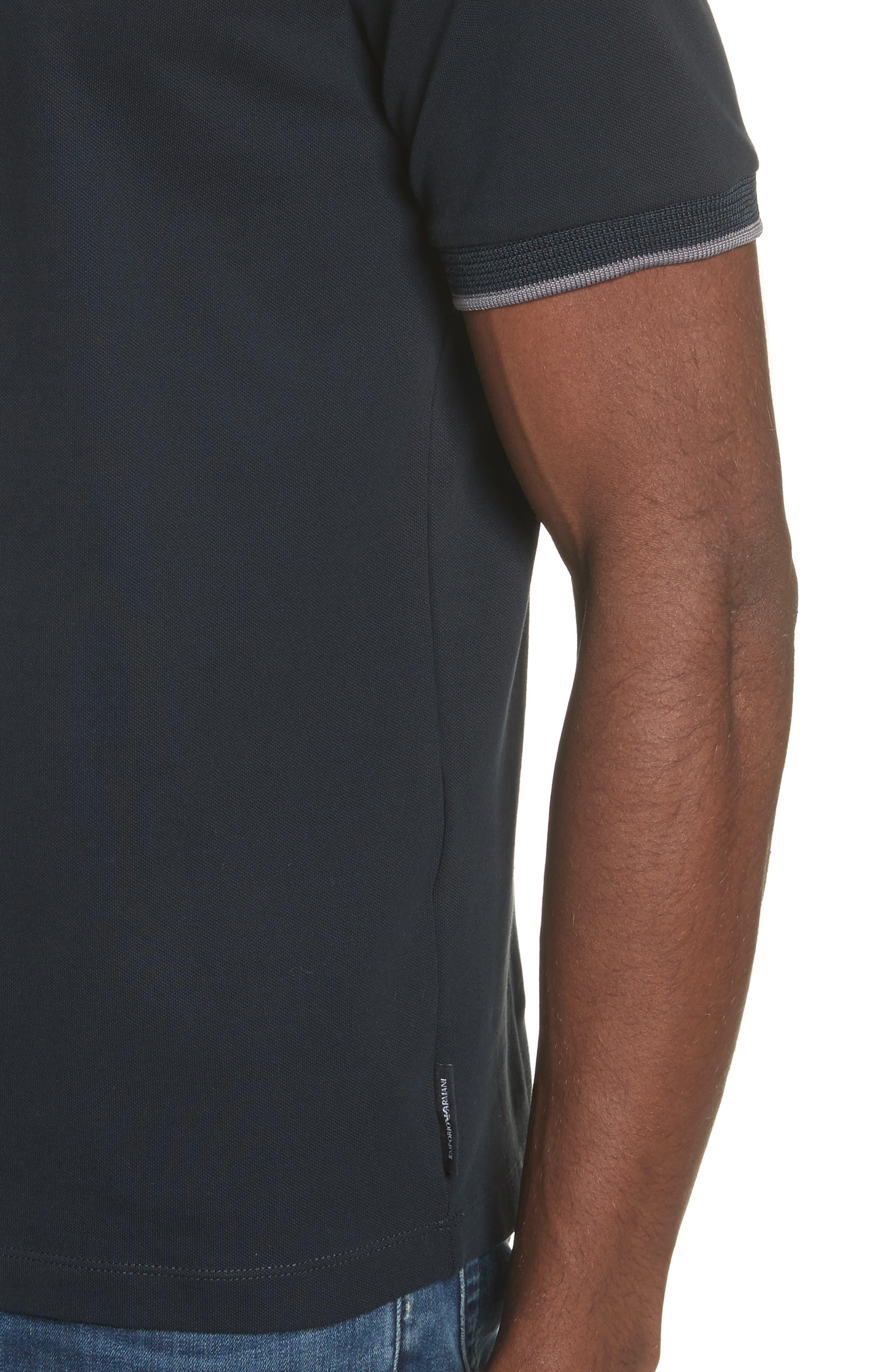 Slim Fit V-Neck Piqué T-Shirt,                             Alternate thumbnail 4, color,                             414