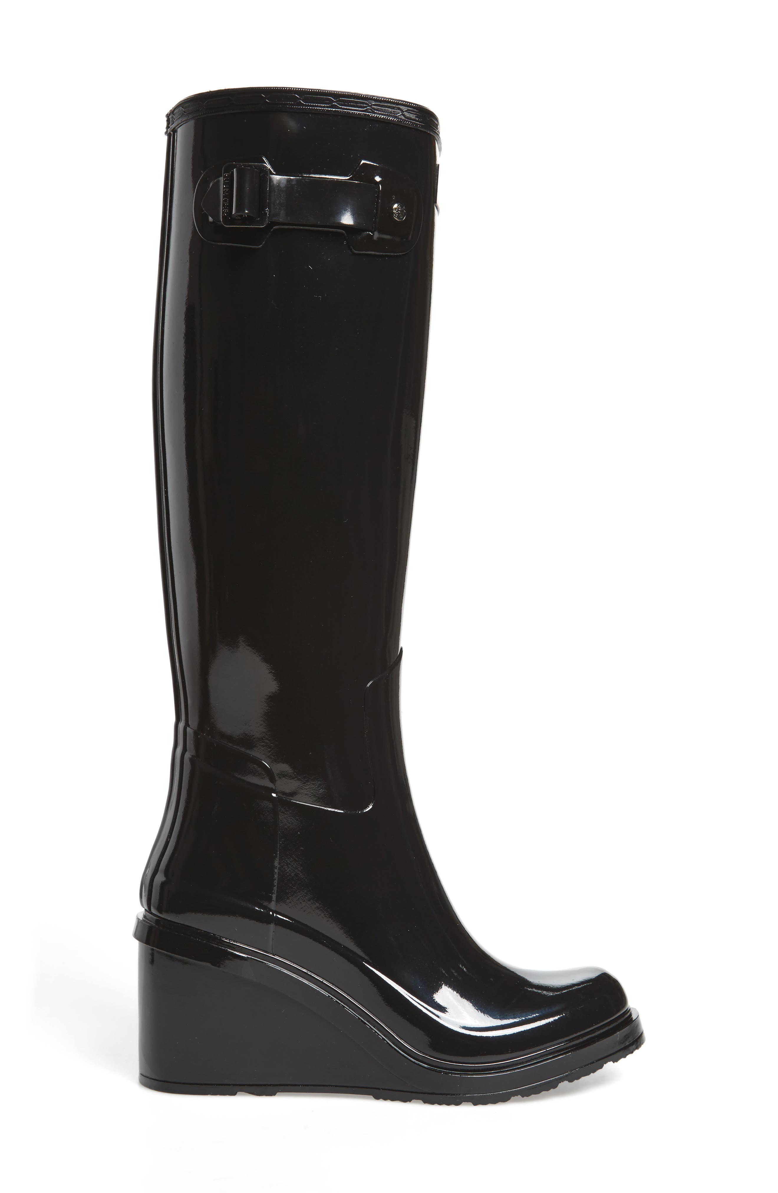 Original Refined Wedge Rain Boot,                             Alternate thumbnail 9, color,