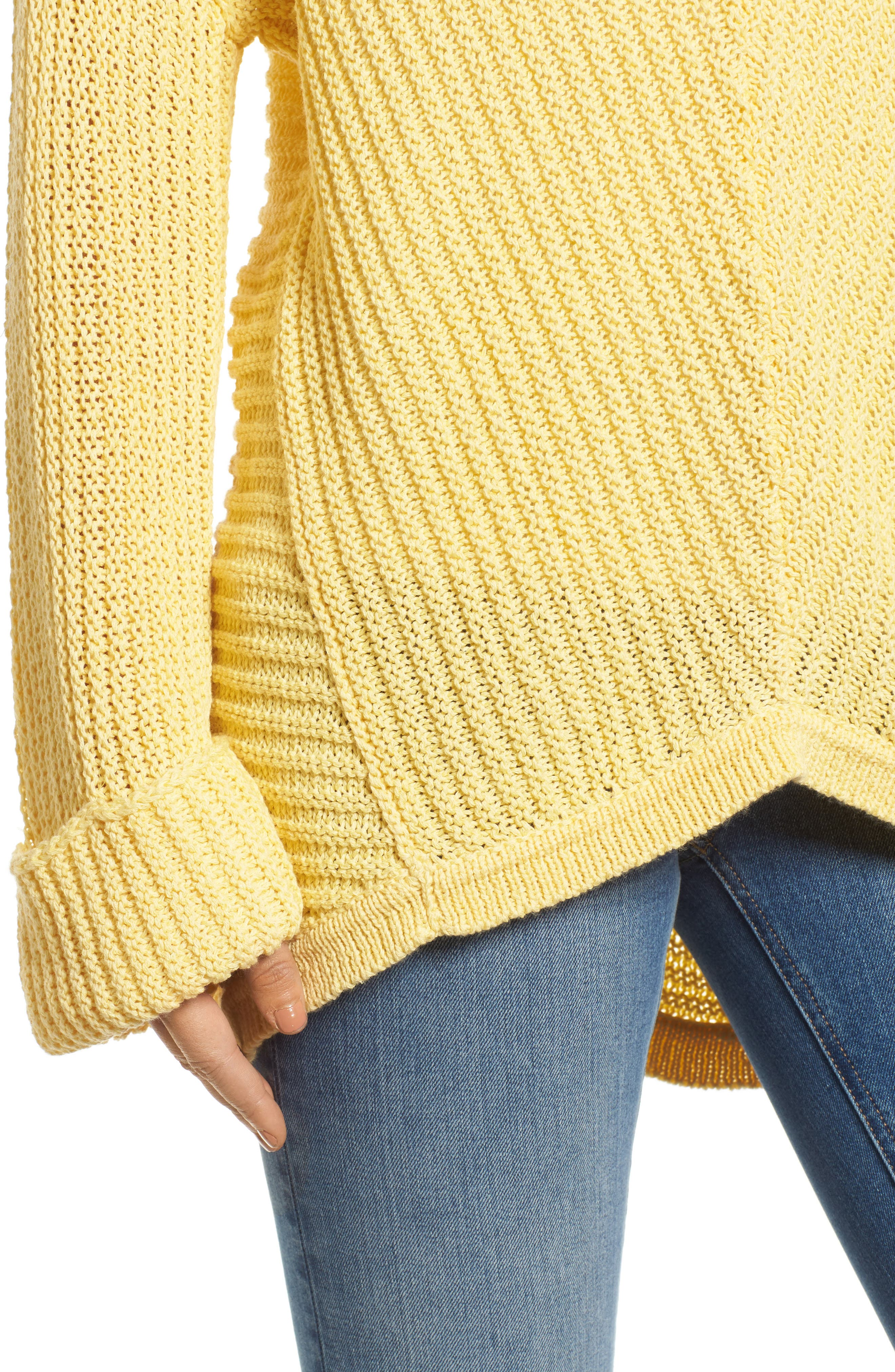Cuffed Sleeve Sweater,                             Alternate thumbnail 15, color,