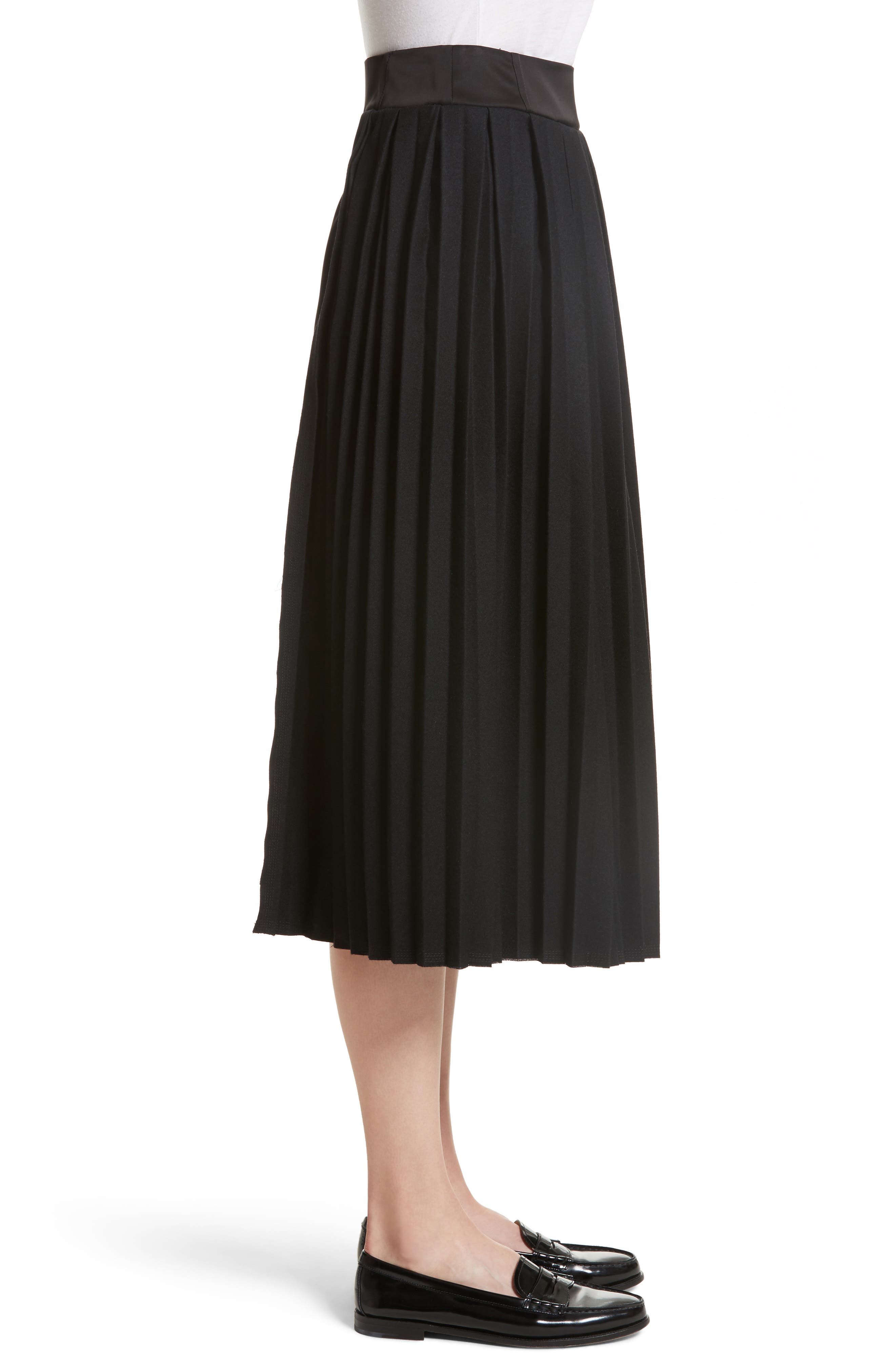 Pleated Panel Skirt,                             Alternate thumbnail 3, color,                             001