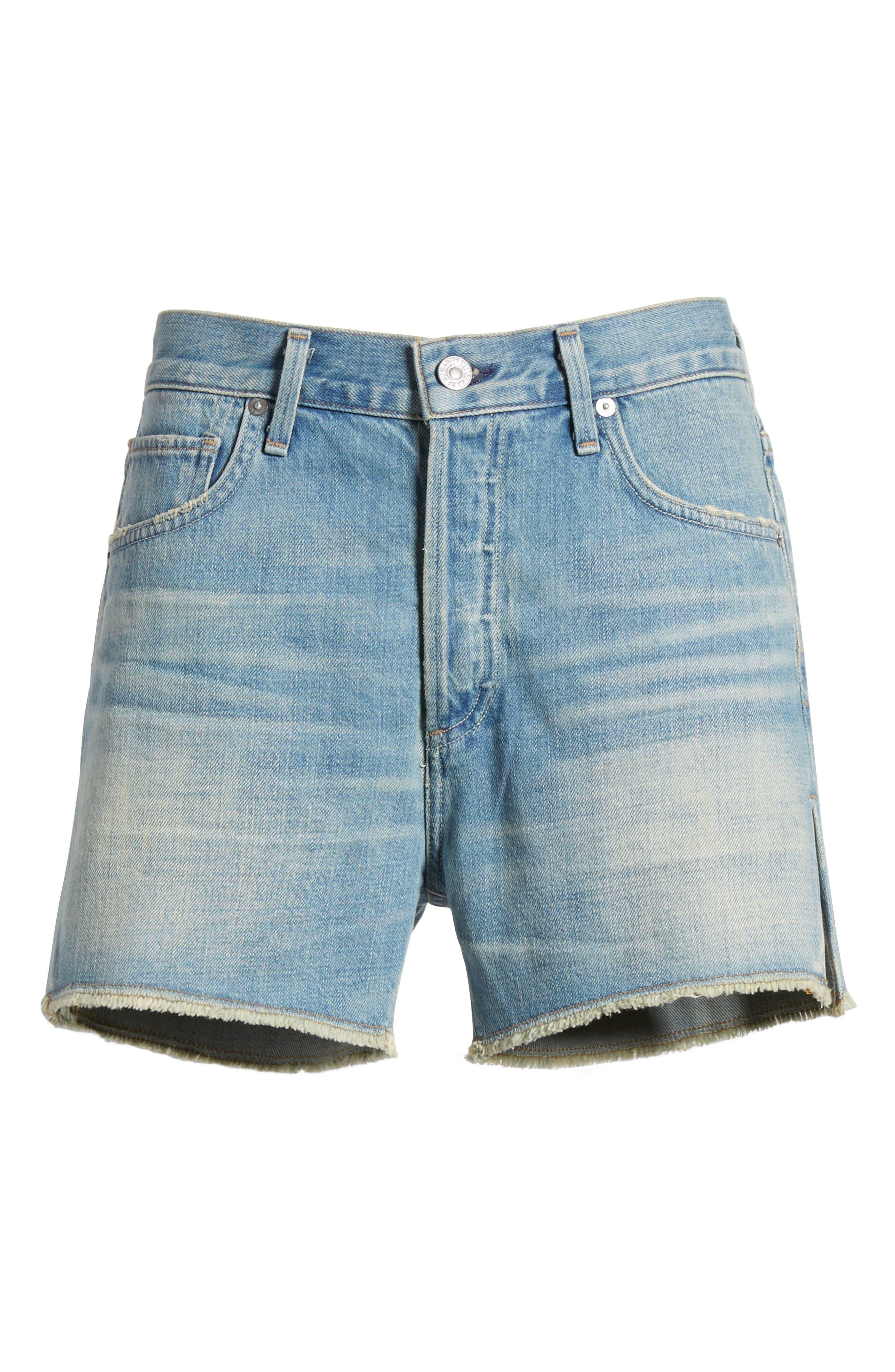 Corey Distressed Slouchy Denim Shorts,                             Alternate thumbnail 7, color,                             460