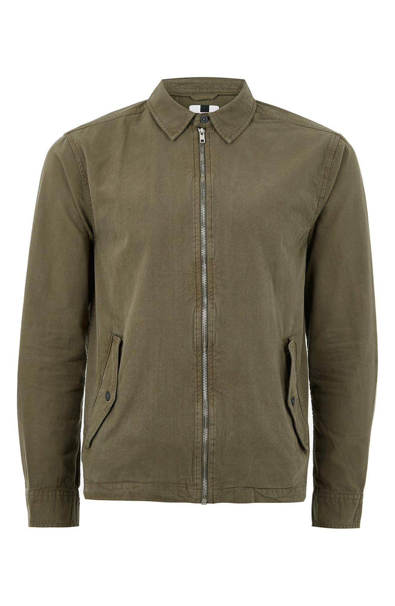 Zip Front Shirt Jacket,                             Alternate thumbnail 4, color,                             300