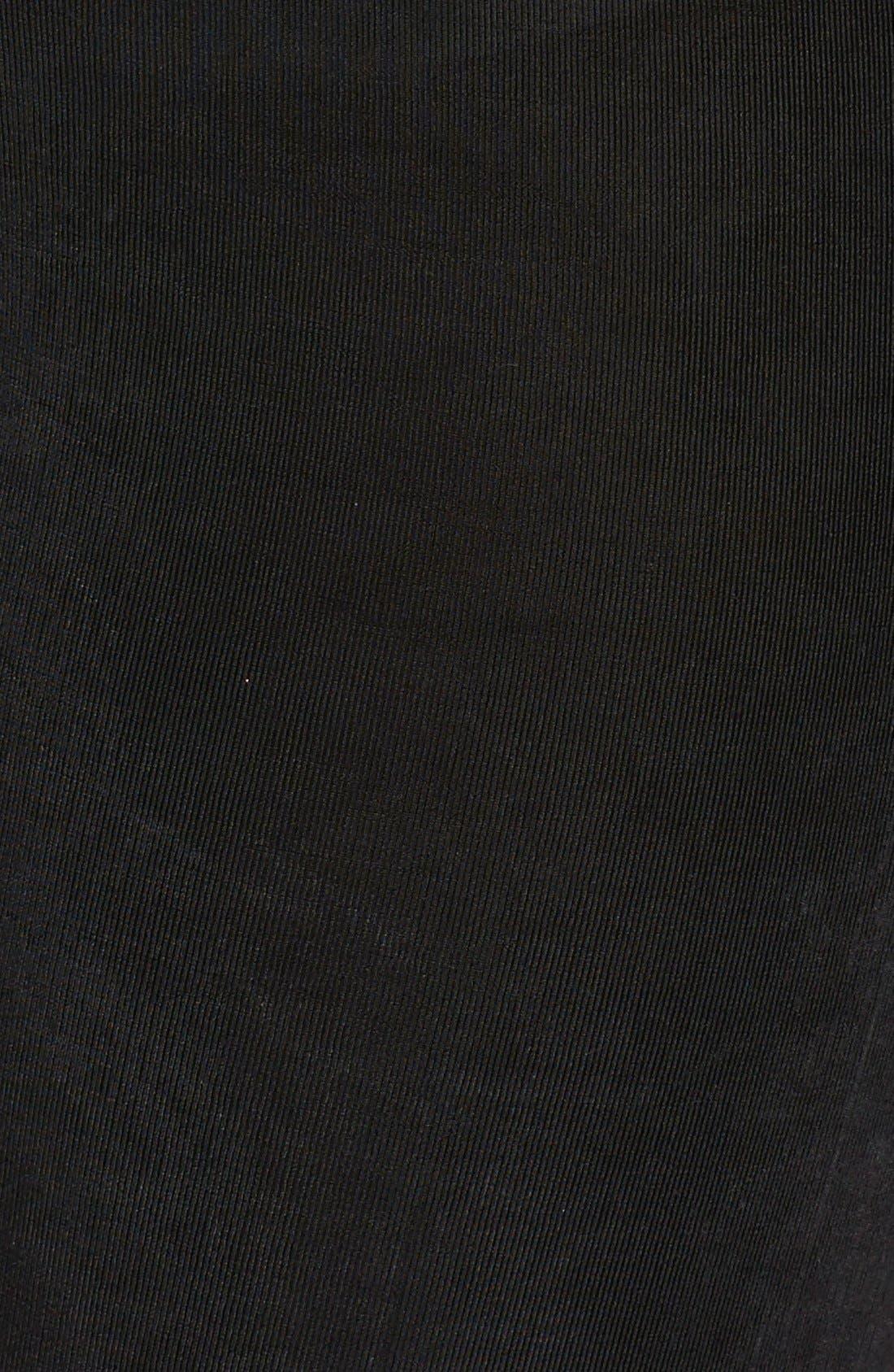 High Rise Stretch Knit Slim Pants,                             Alternate thumbnail 3, color,                             BLACK