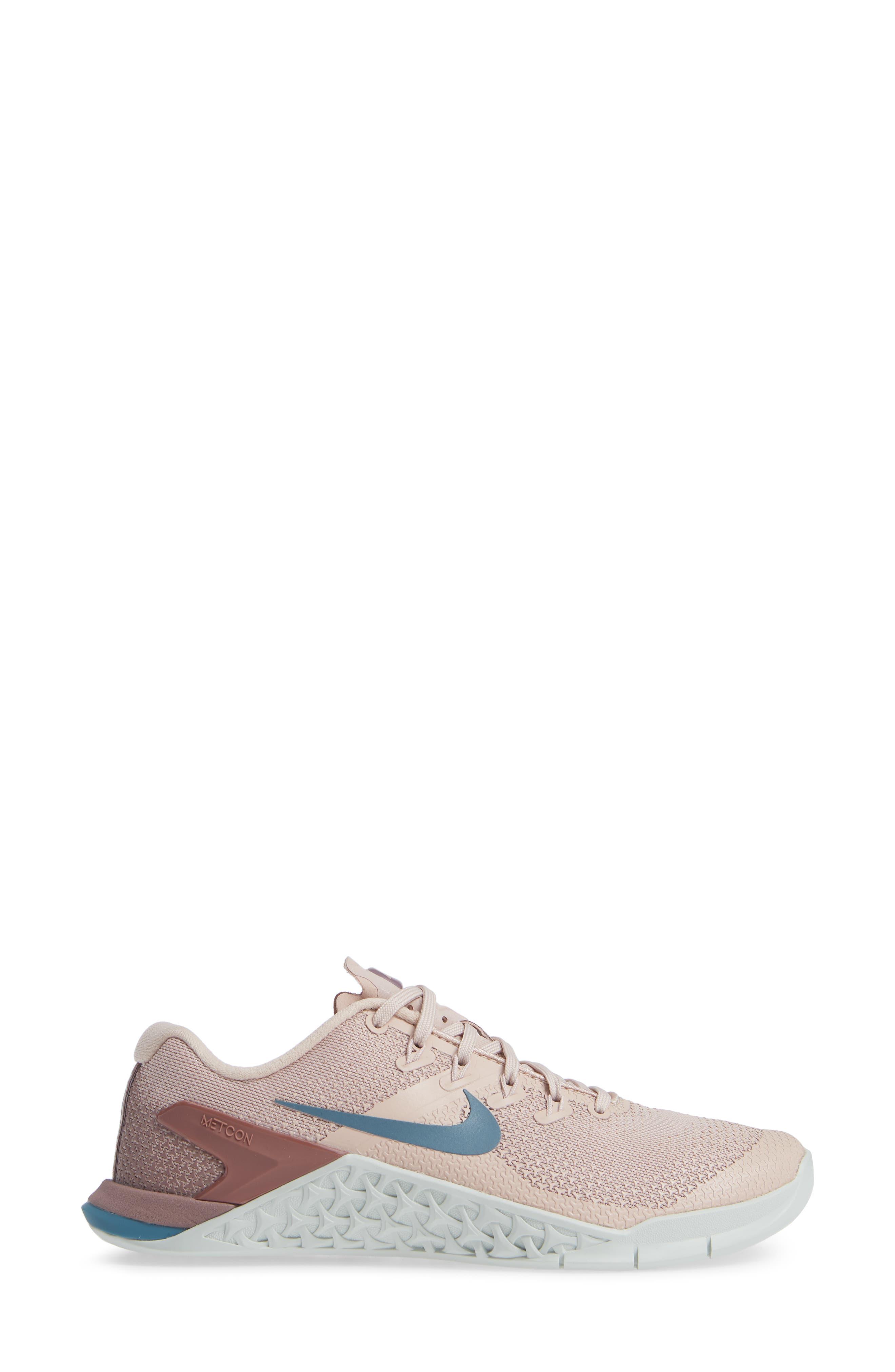 Metcon 4 Training Shoe,                             Alternate thumbnail 3, color,                             PARTICLE BEIGE