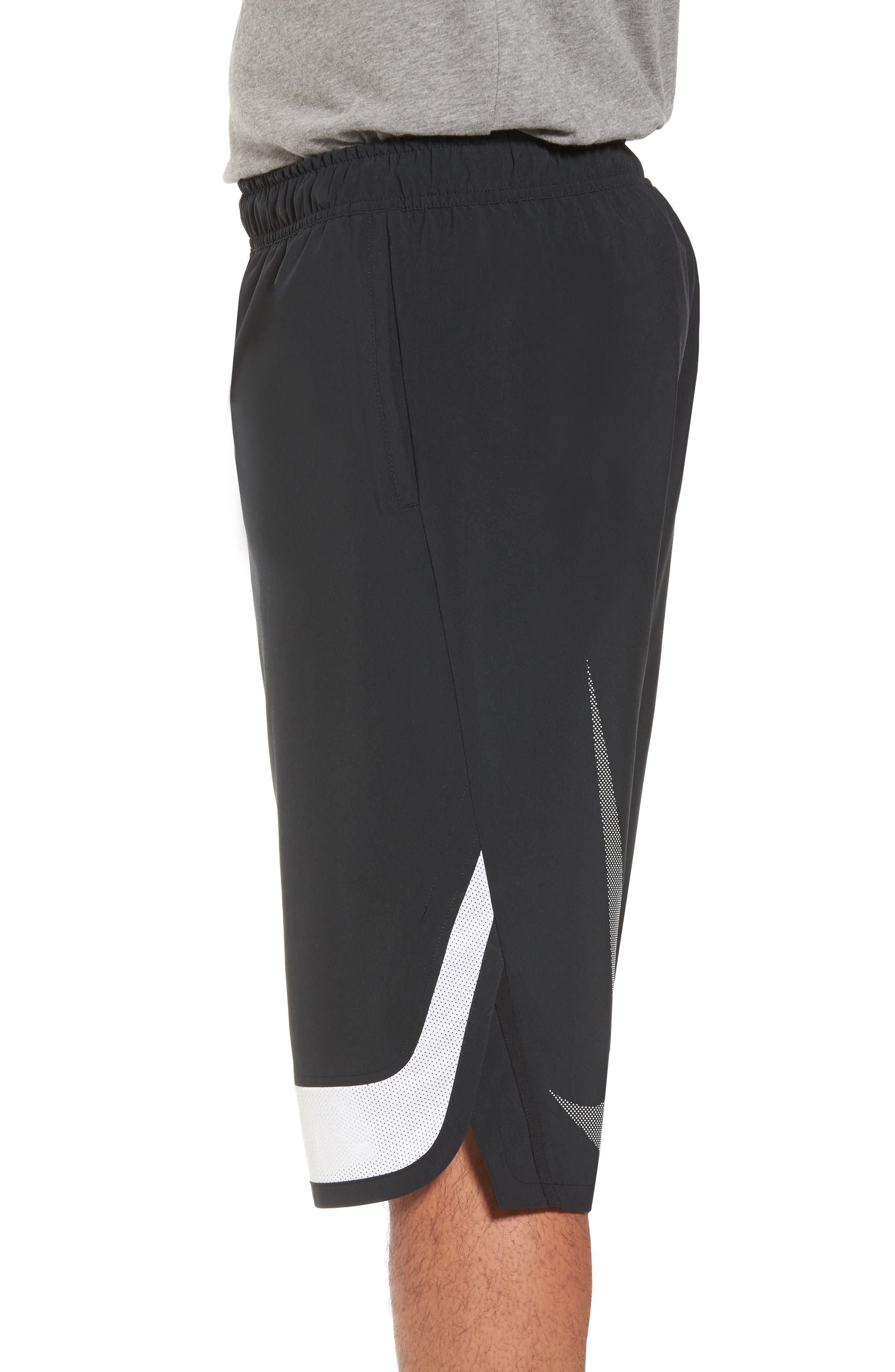 Training Flex PX Shorts,                             Alternate thumbnail 3, color,                             BLACK/ WHITE/ WHITE