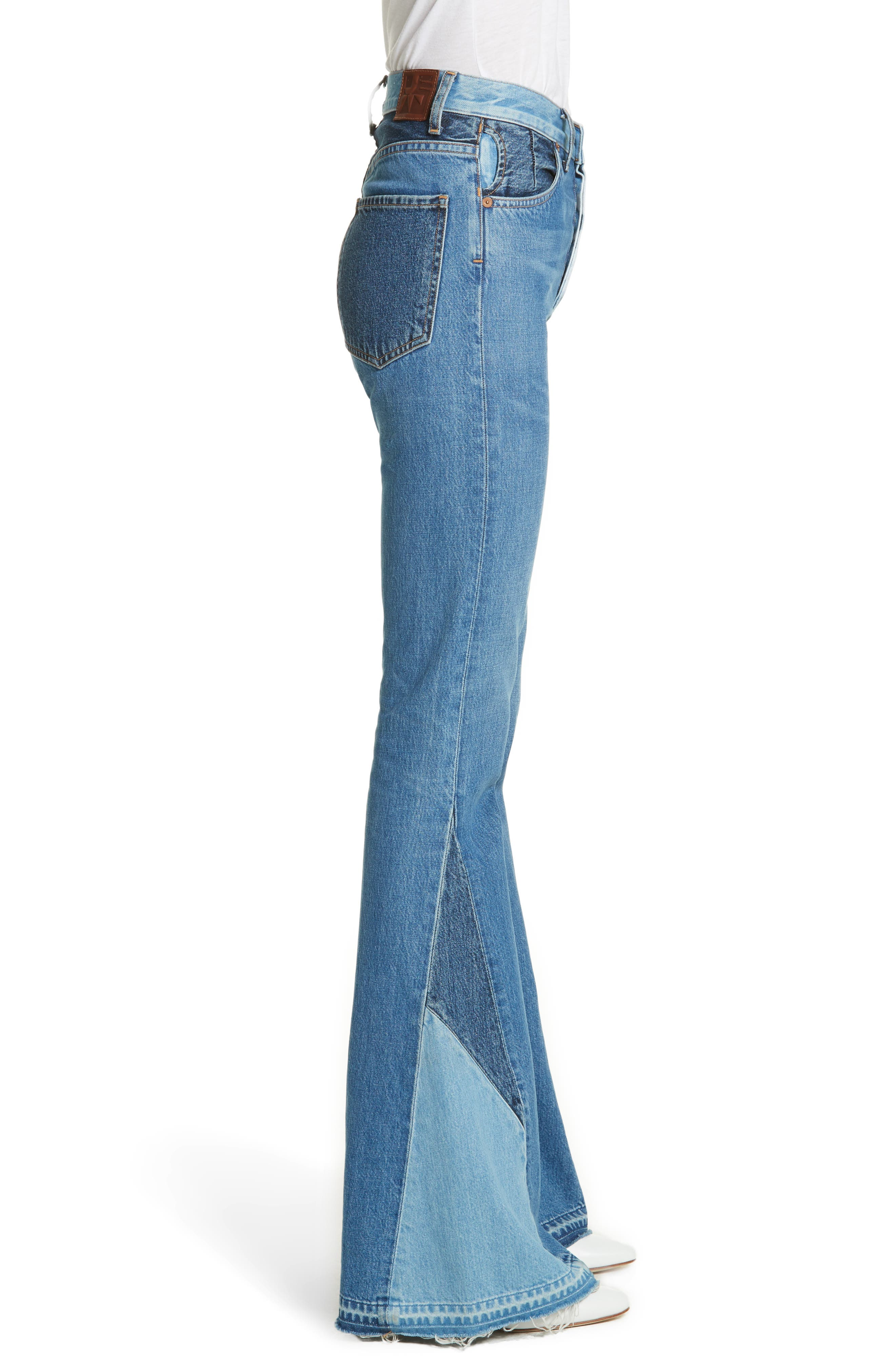 Janis High Rise Flare Jeans,                             Alternate thumbnail 3, color,                             JAGGER