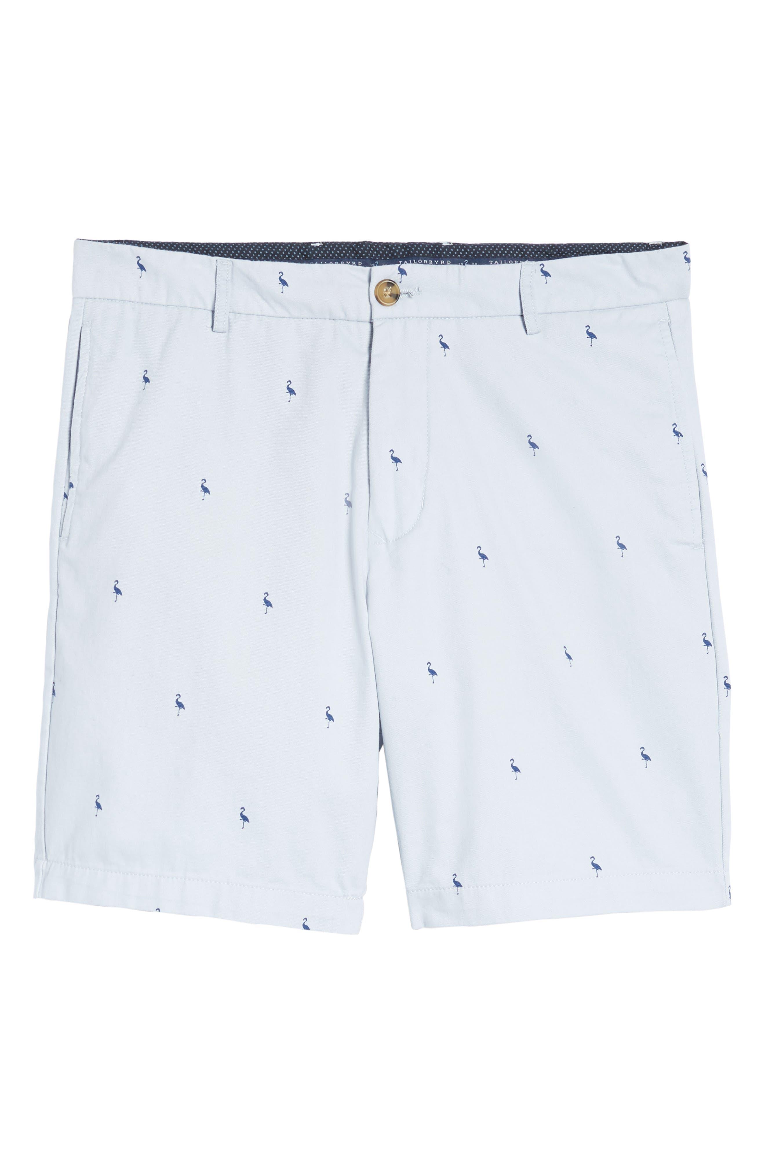 Aiden Bird Regular Fit Chino Shorts,                             Alternate thumbnail 6, color,                             450