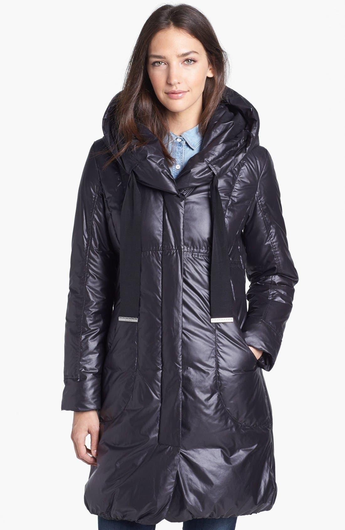'Lisa' Hooded Down Coat, Main, color, 001