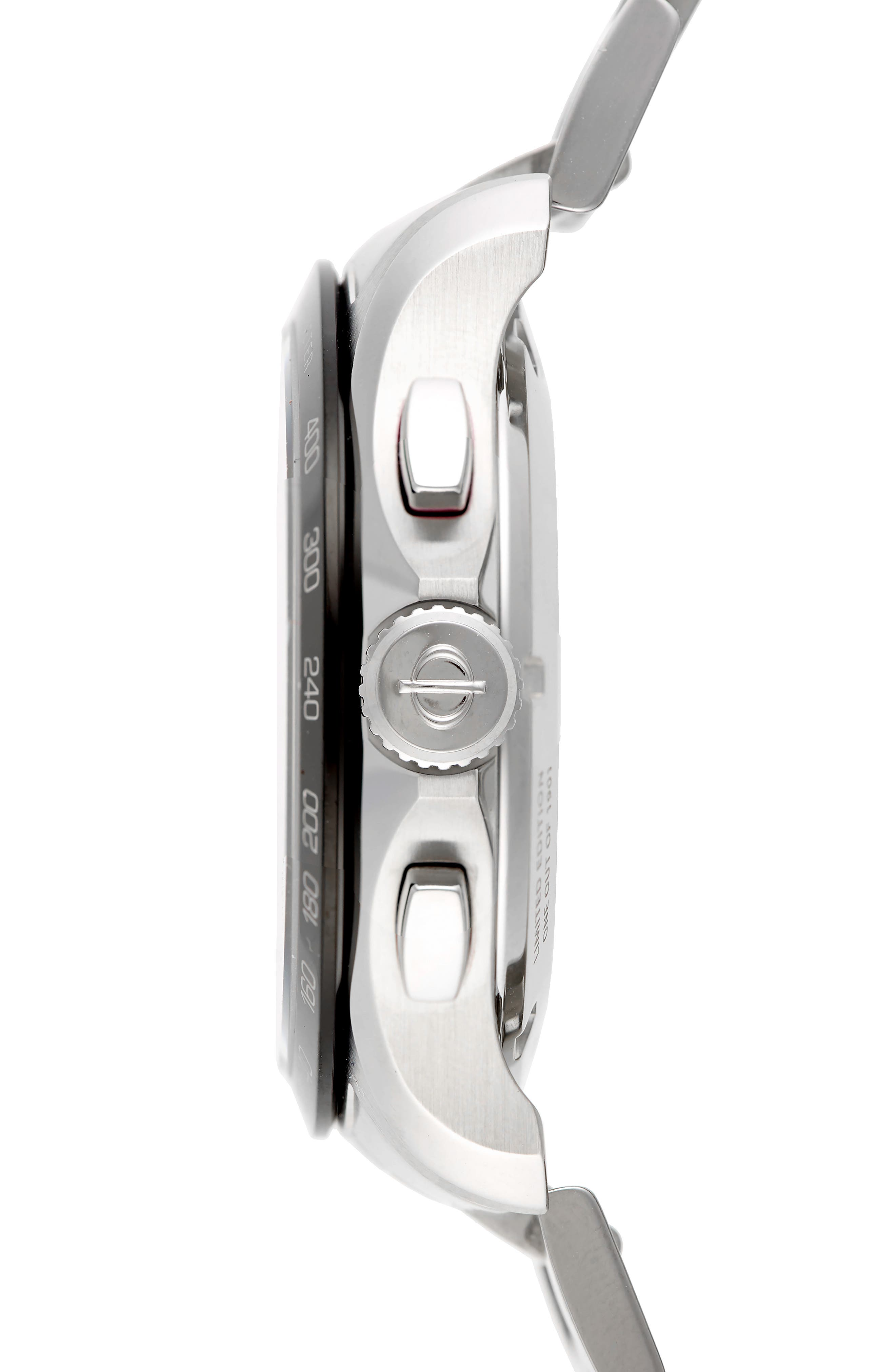 Clifton Limited Edition Automatic Bracelet Watch, 44mm,                             Alternate thumbnail 3, color,                             BLACK/STEEL