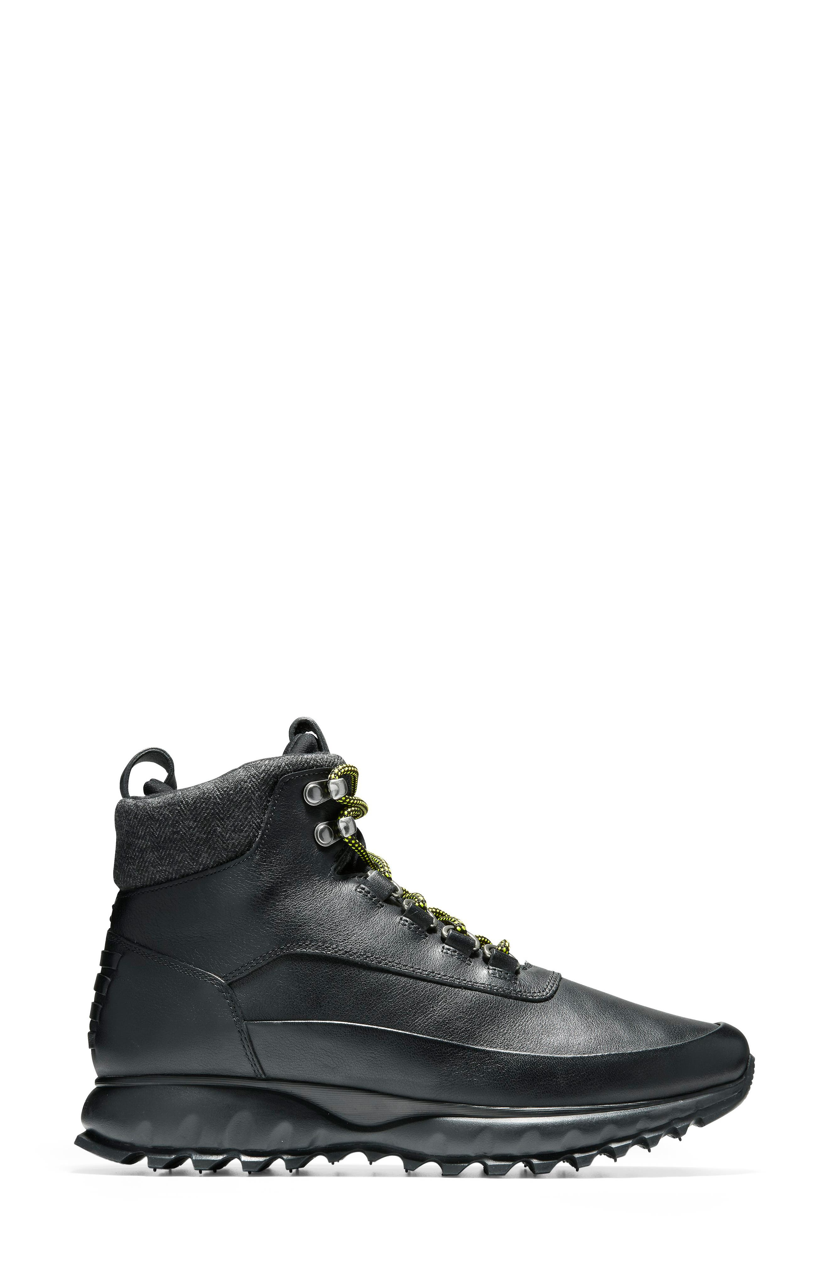 GrandExplore All Terrain Waterproof Hiking Boot,                             Alternate thumbnail 3, color,                             BLACK WATERPROOF LEATHER