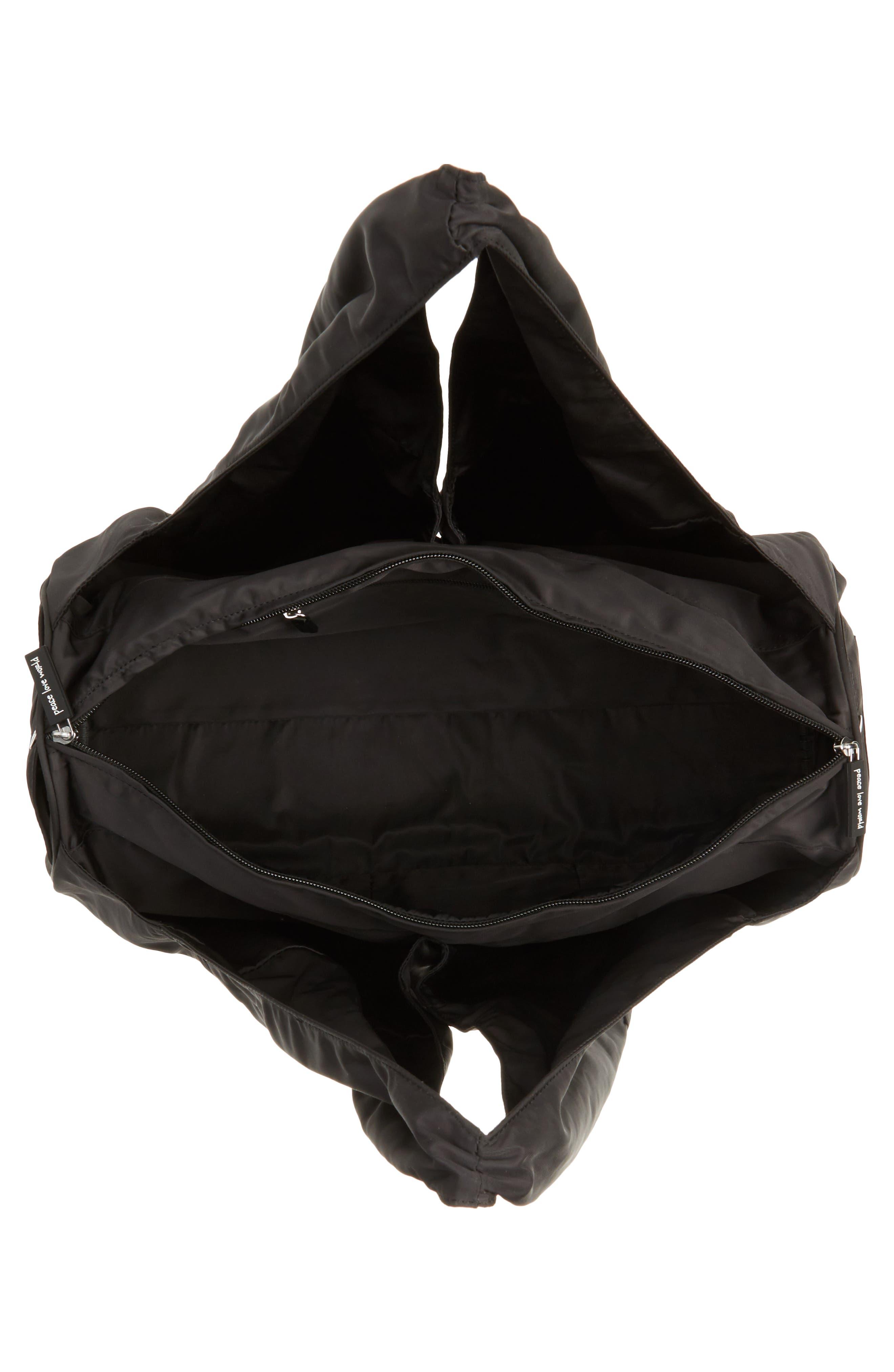 Nylon Duffel Bag,                             Alternate thumbnail 4, color,                             001