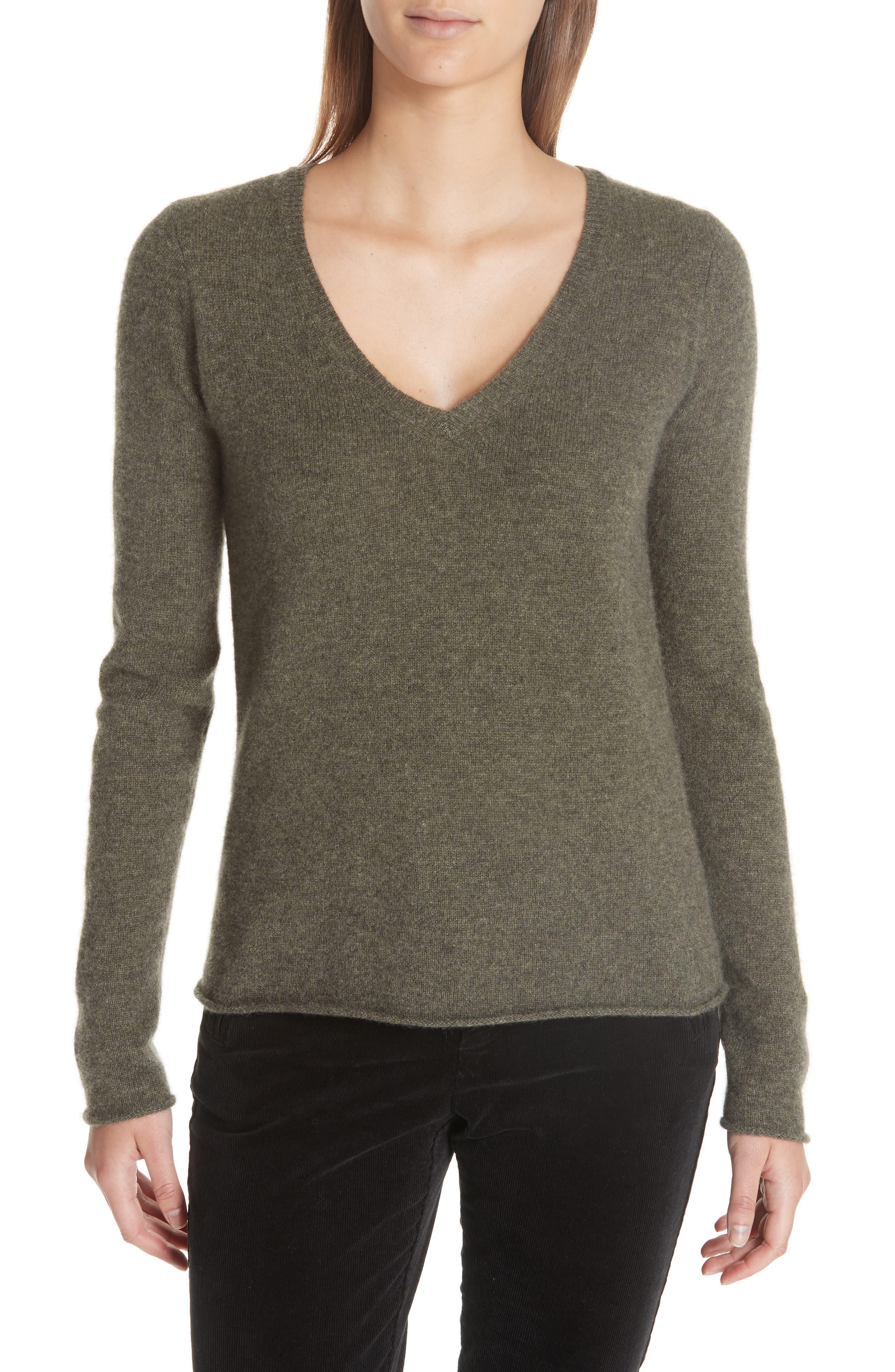 Cashmere V-Neck Sweater, Main, color, 335