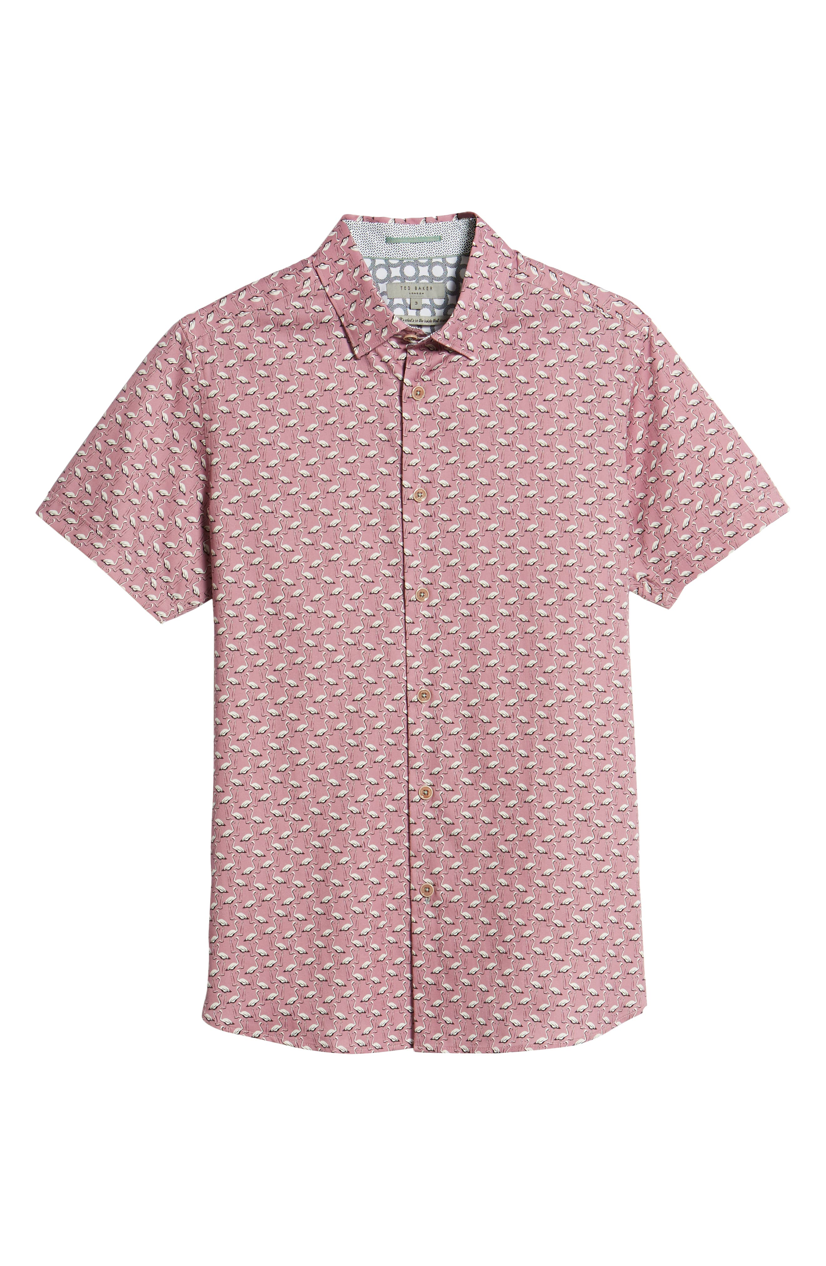 Norflam Flamingo Print Sport Shirt,                             Alternate thumbnail 6, color,                             650