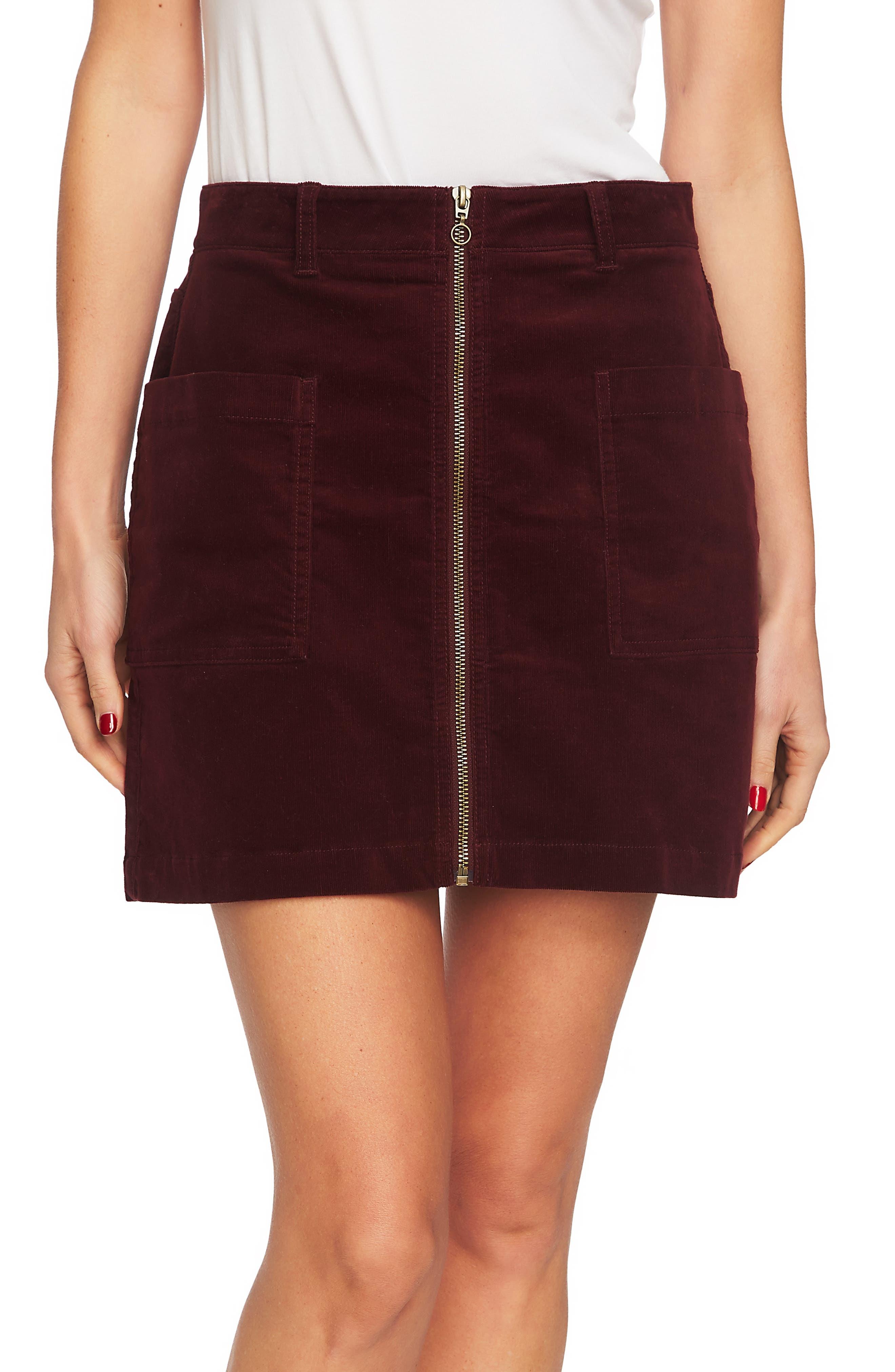 1.state Corduroy Miniskirt, Red