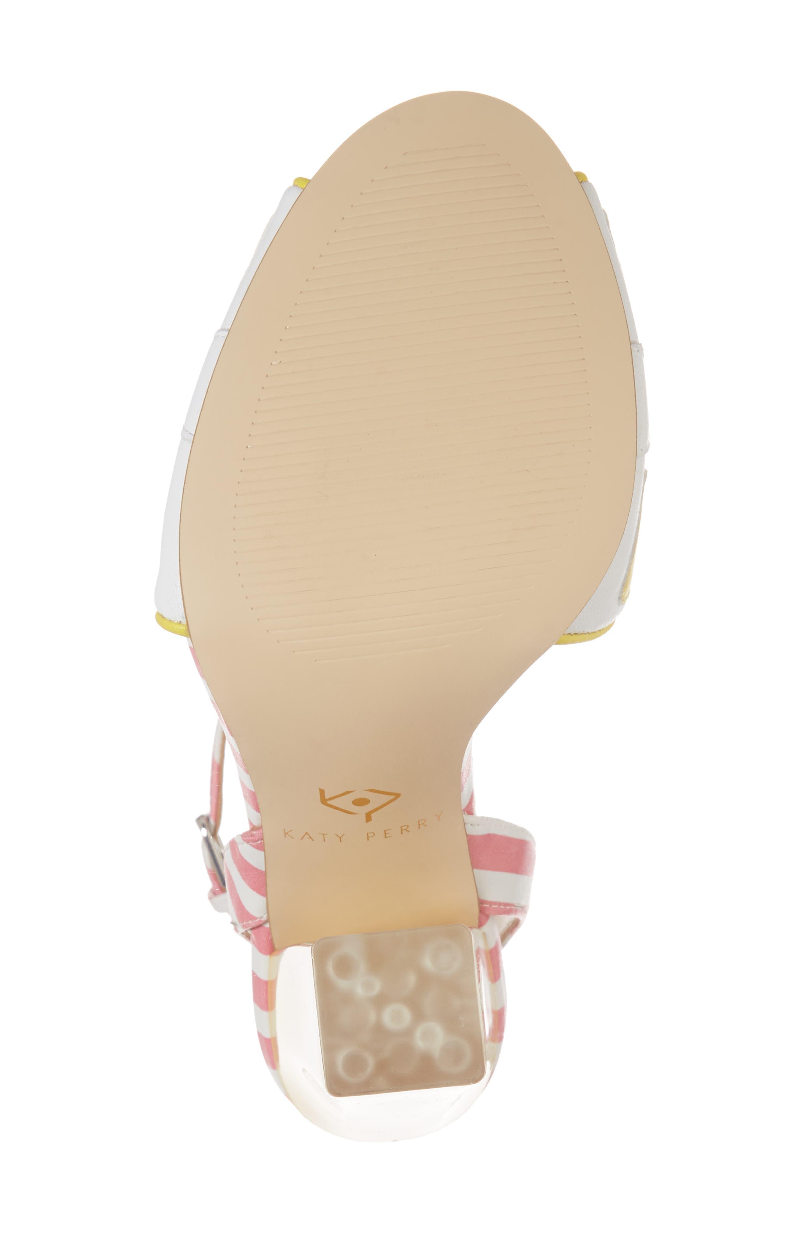The Citron Sandal,                             Alternate thumbnail 6, color,                             YELLOW/ WHITE LEATHER