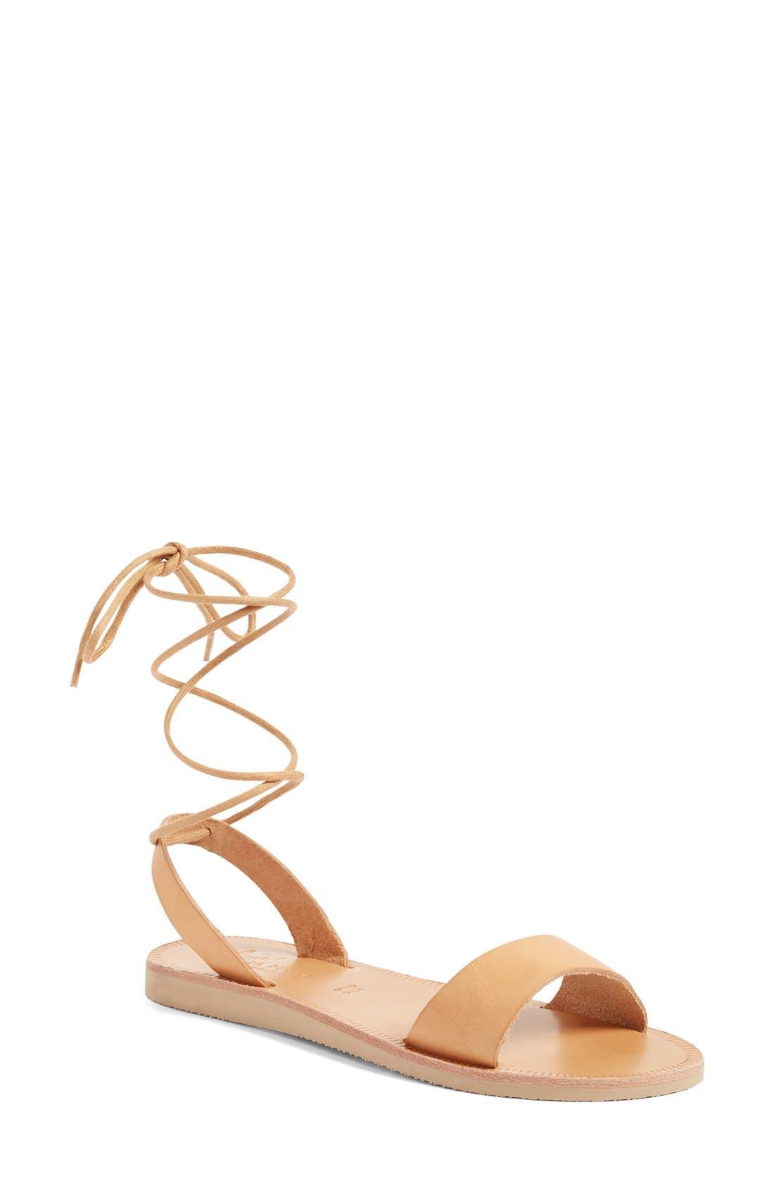 Pietra Ankle Wrap Sandal,                             Main thumbnail 1, color,