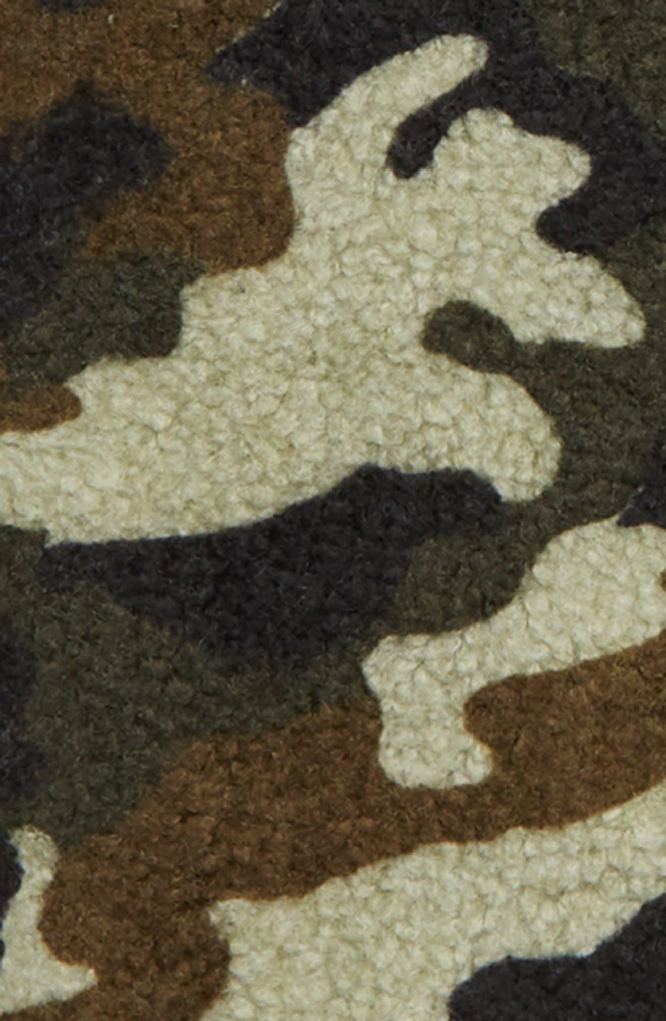 Fleece Camo Crewneck Sweatshirt,                             Alternate thumbnail 2, color,                             OLIVE SARMA CAMOUFLAGE