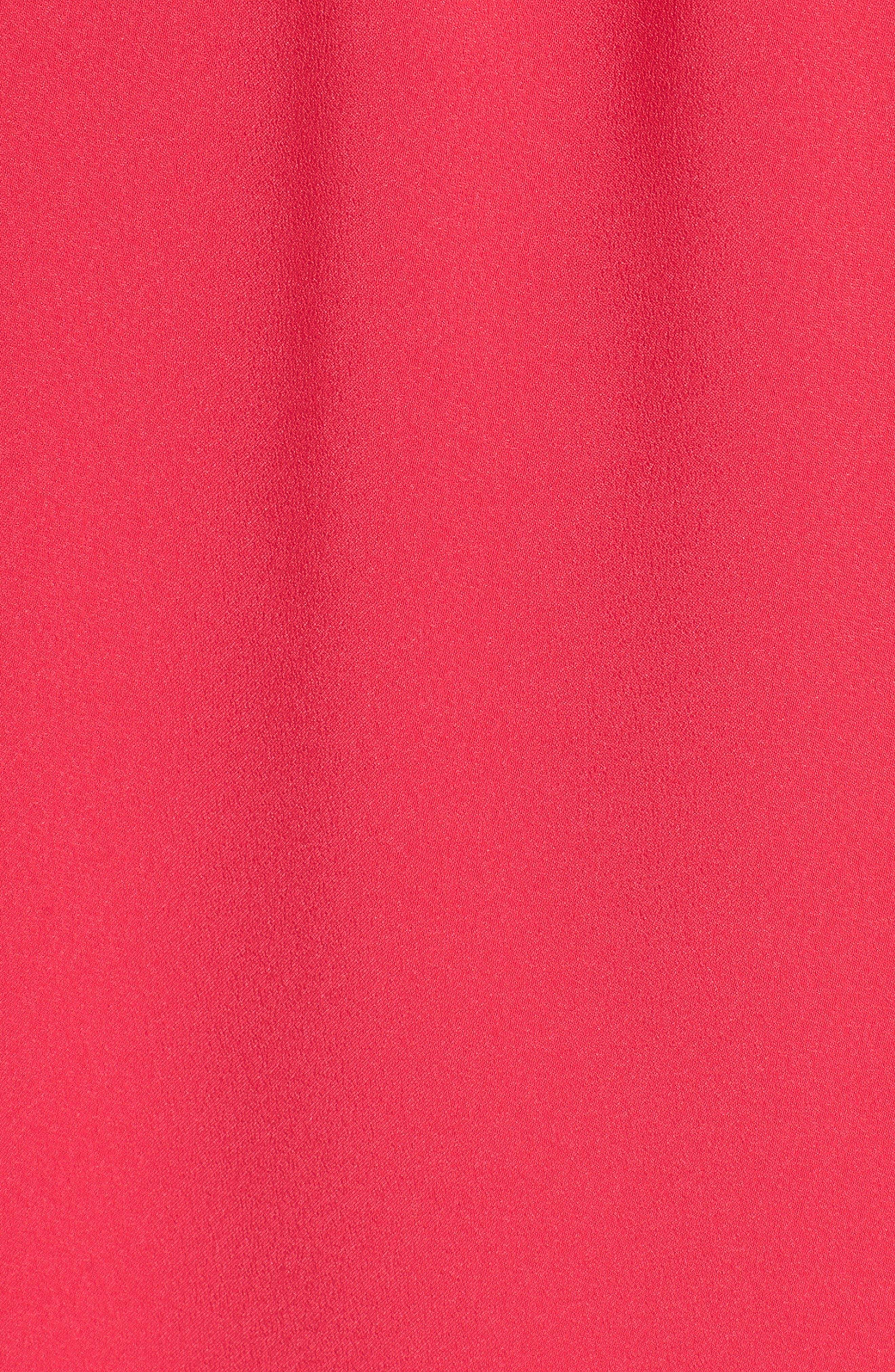 Off the Shoulder Crepe Dress,                             Alternate thumbnail 24, color,