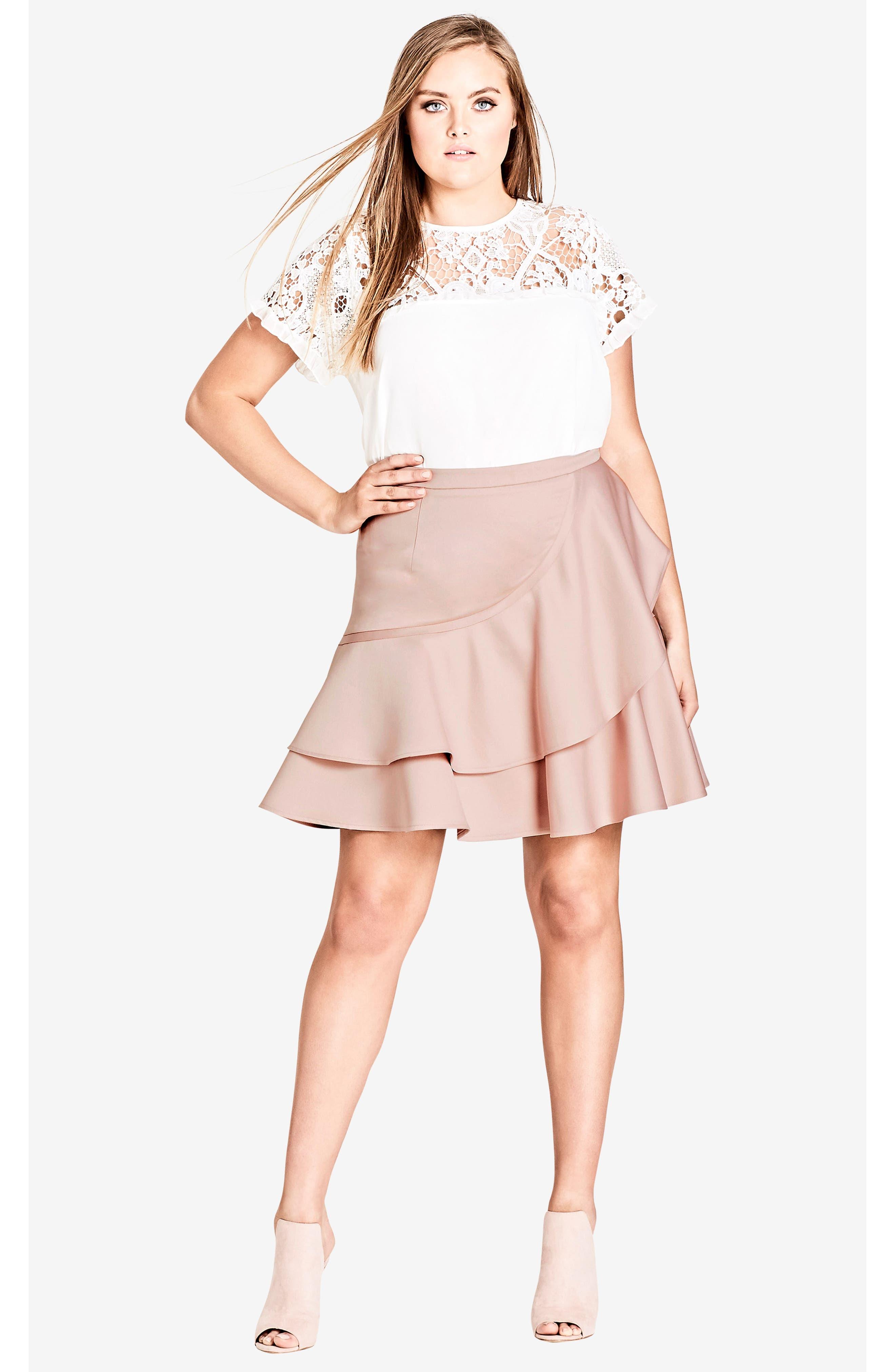 Frill Me Ruffle Skirt,                             Alternate thumbnail 5, color,                             657