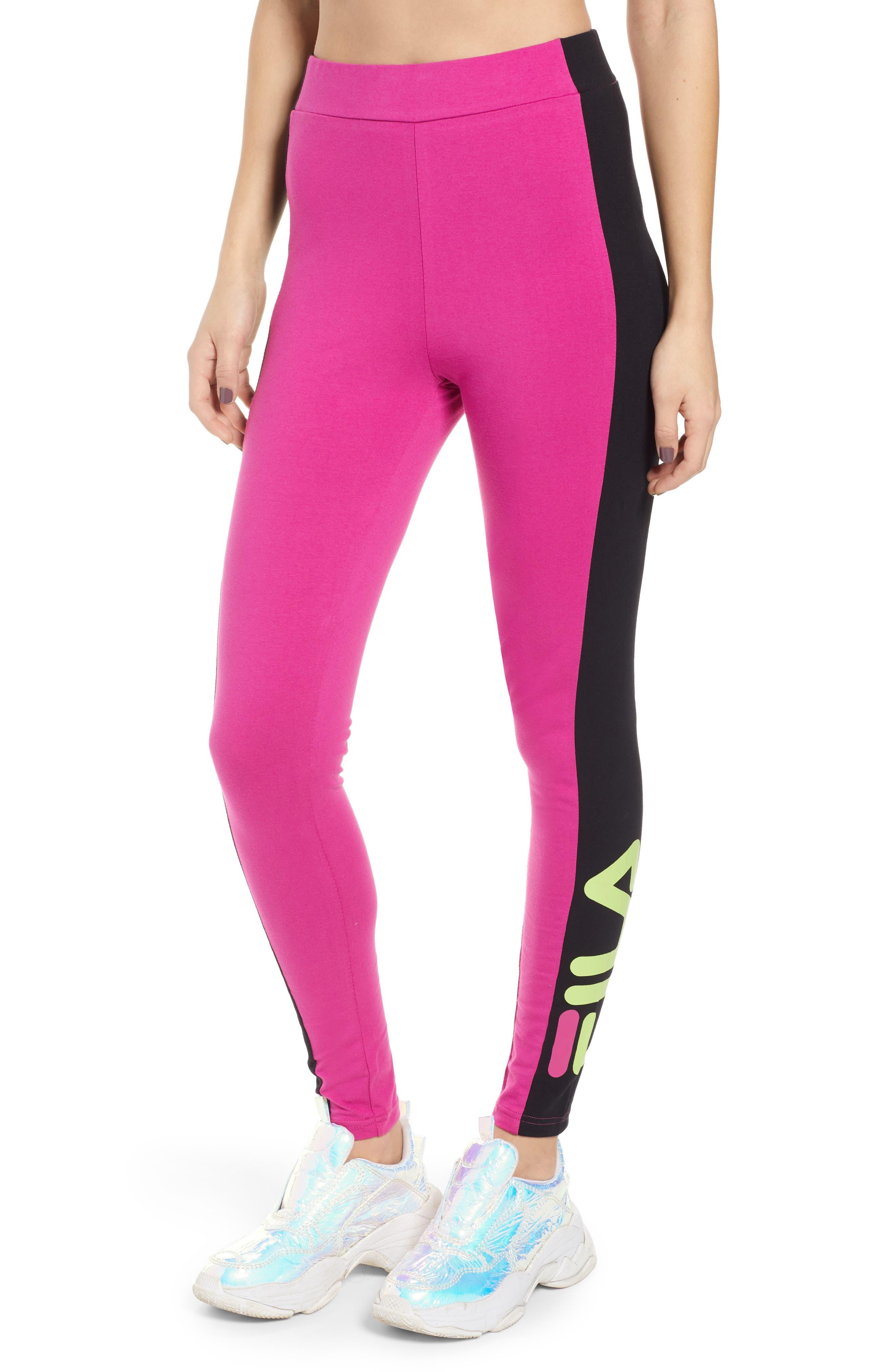 Macarena Side Stripe Leggings, Main, color, PINK