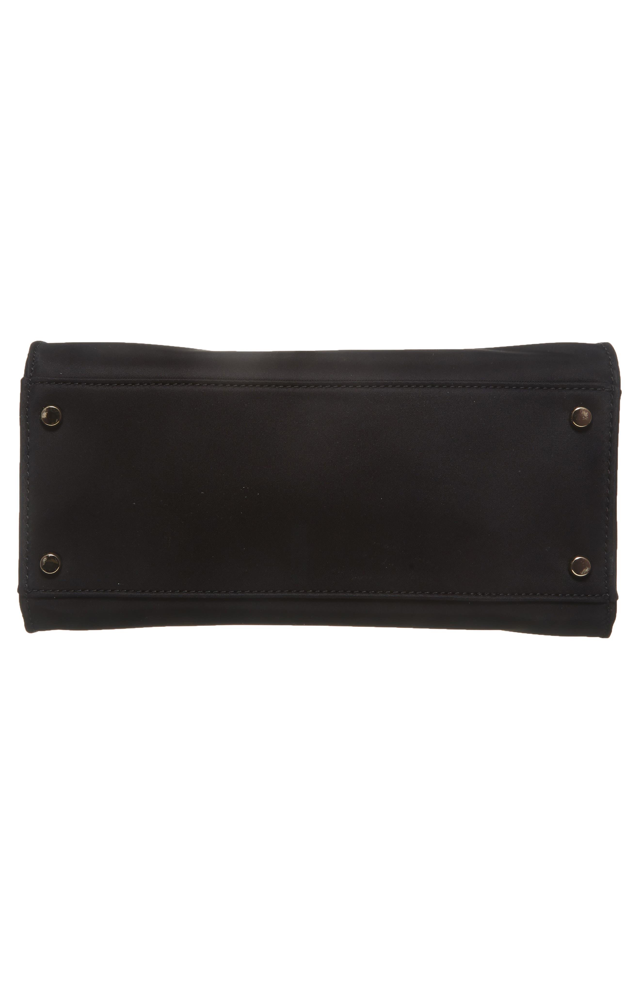 watson lane – sam nylon satchel,                             Alternate thumbnail 6, color,                             BLACK
