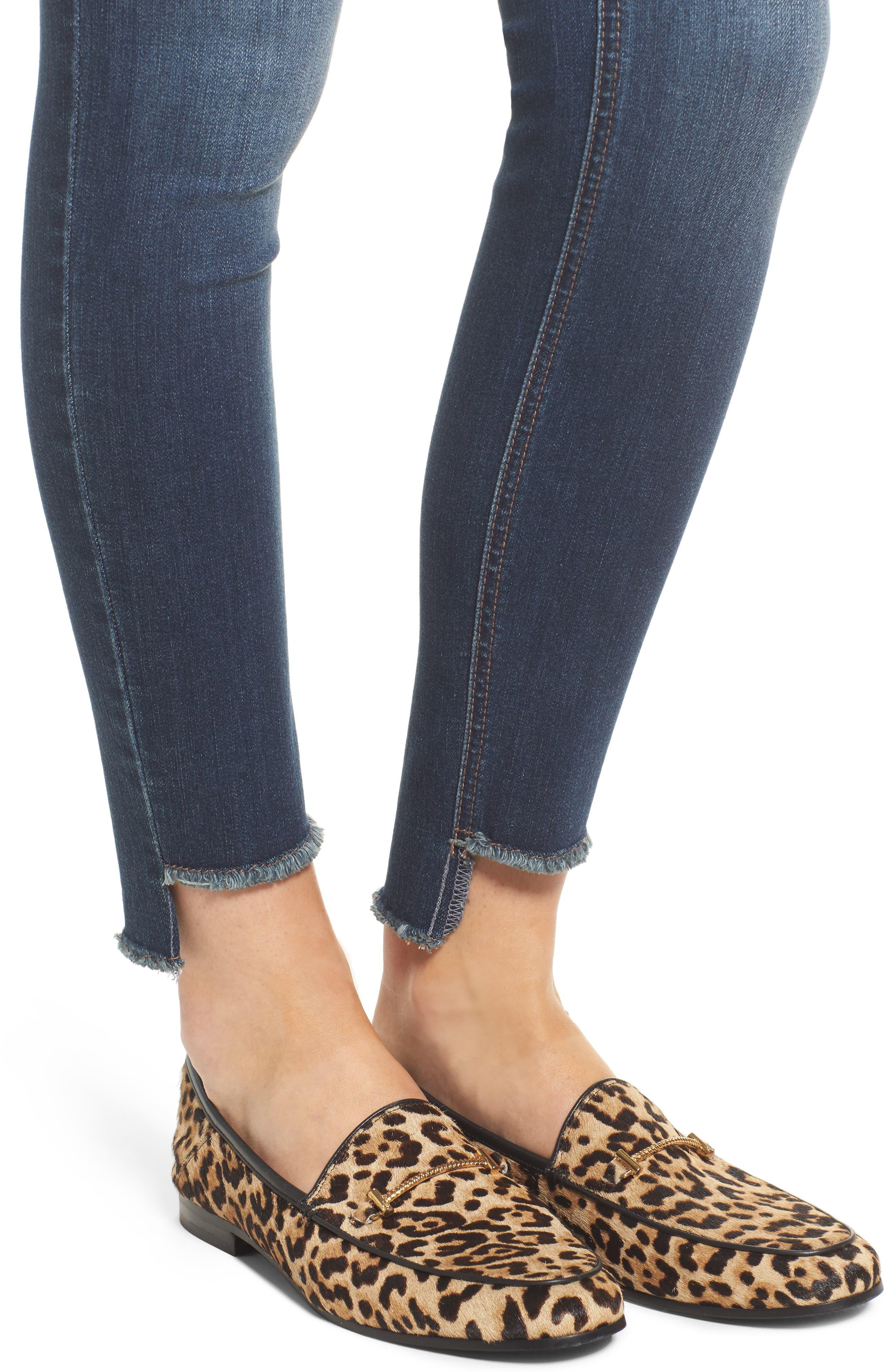 Step Hem Skinny Jeans,                             Alternate thumbnail 4, color,