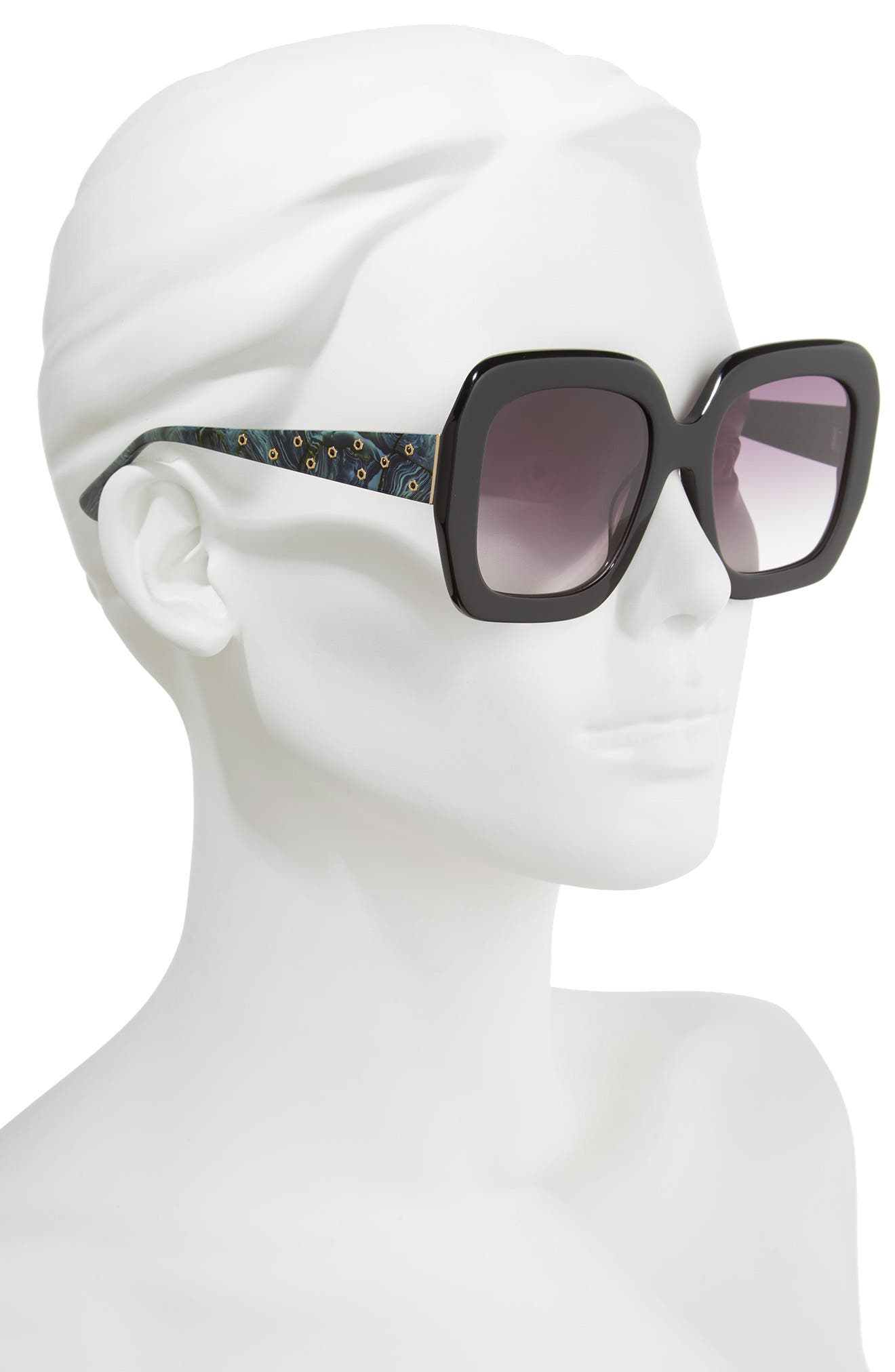 Lexington 55mm Square Sunglasses,                             Alternate thumbnail 4, color,
