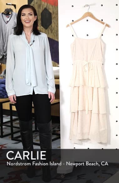 Florence Chiffon Embroidered Tiered A-Line Dress, sales video thumbnail
