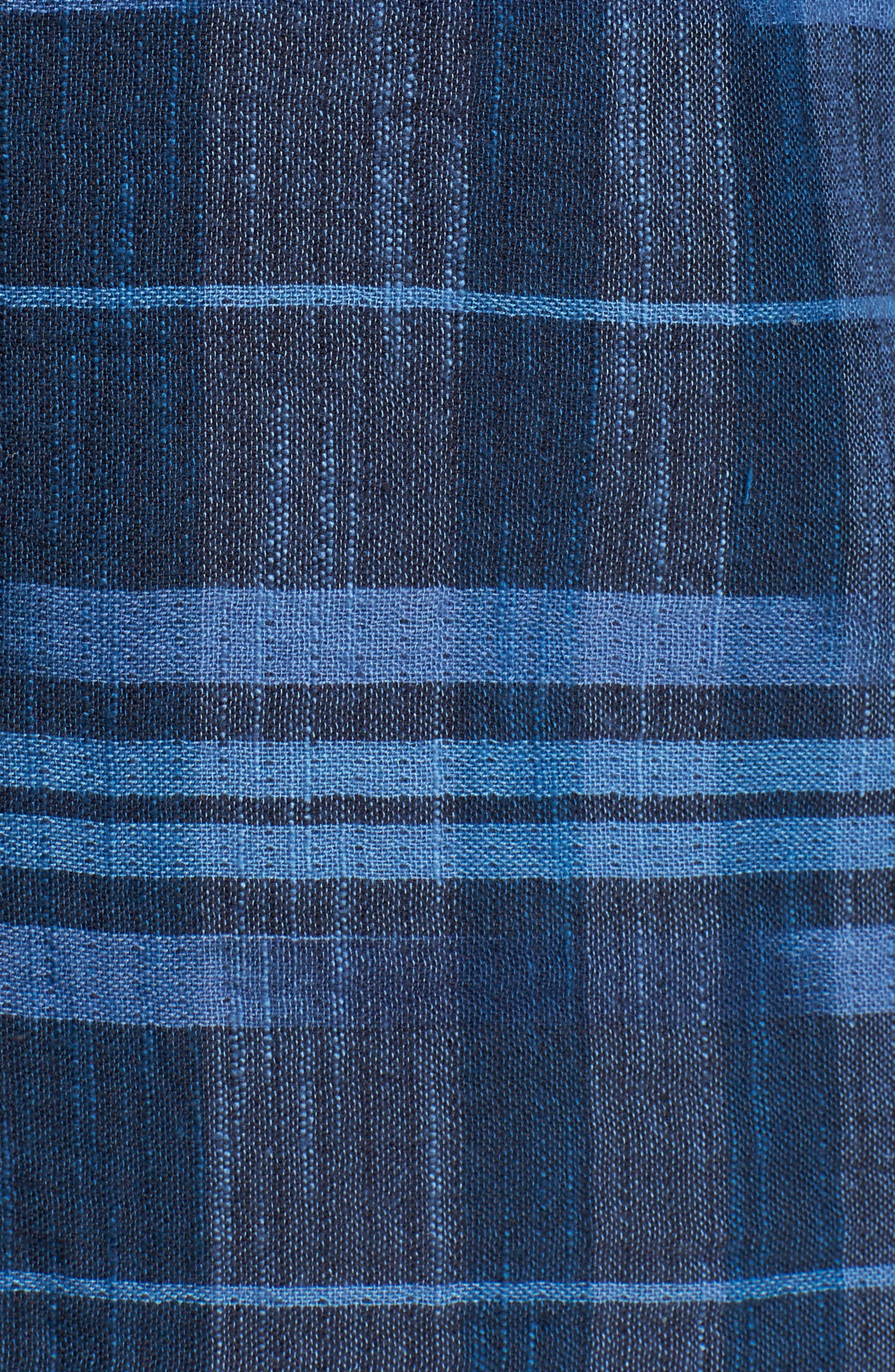 Amparo Plaid Sport Shirt,                             Alternate thumbnail 5, color,                             BLUE JEAN