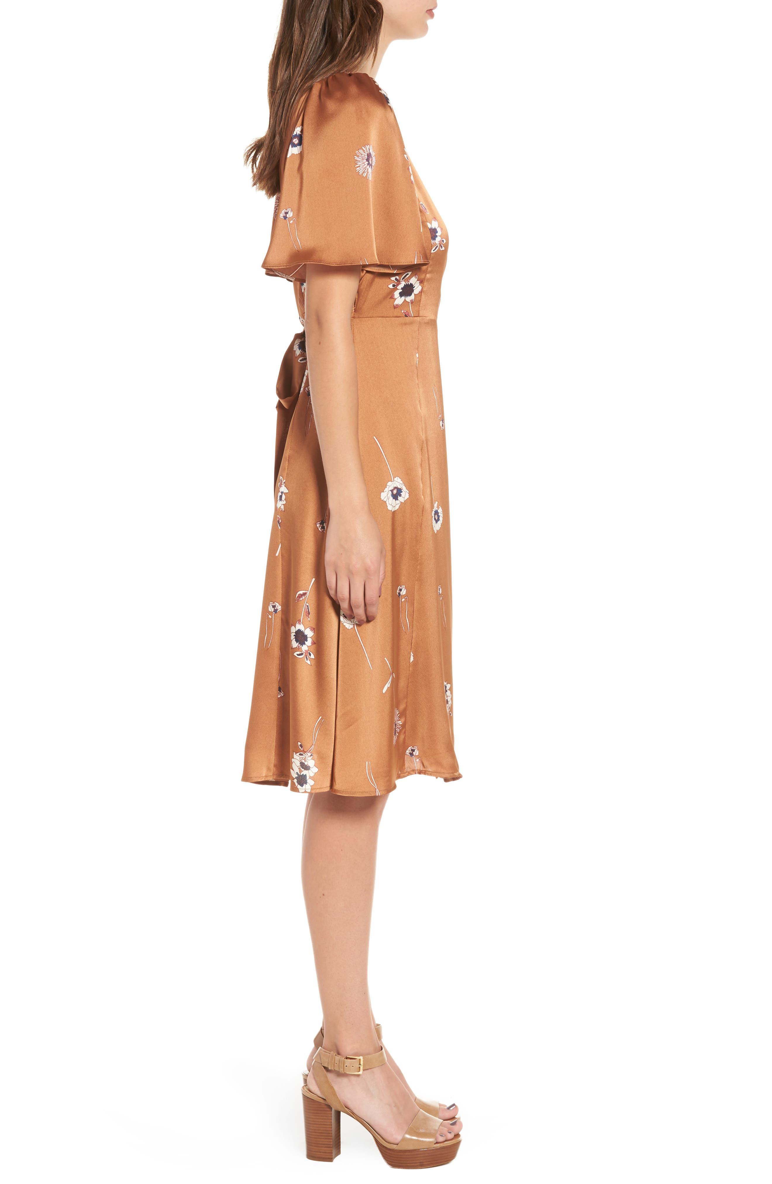 Fiona Wrap Dress,                             Alternate thumbnail 3, color,                             202
