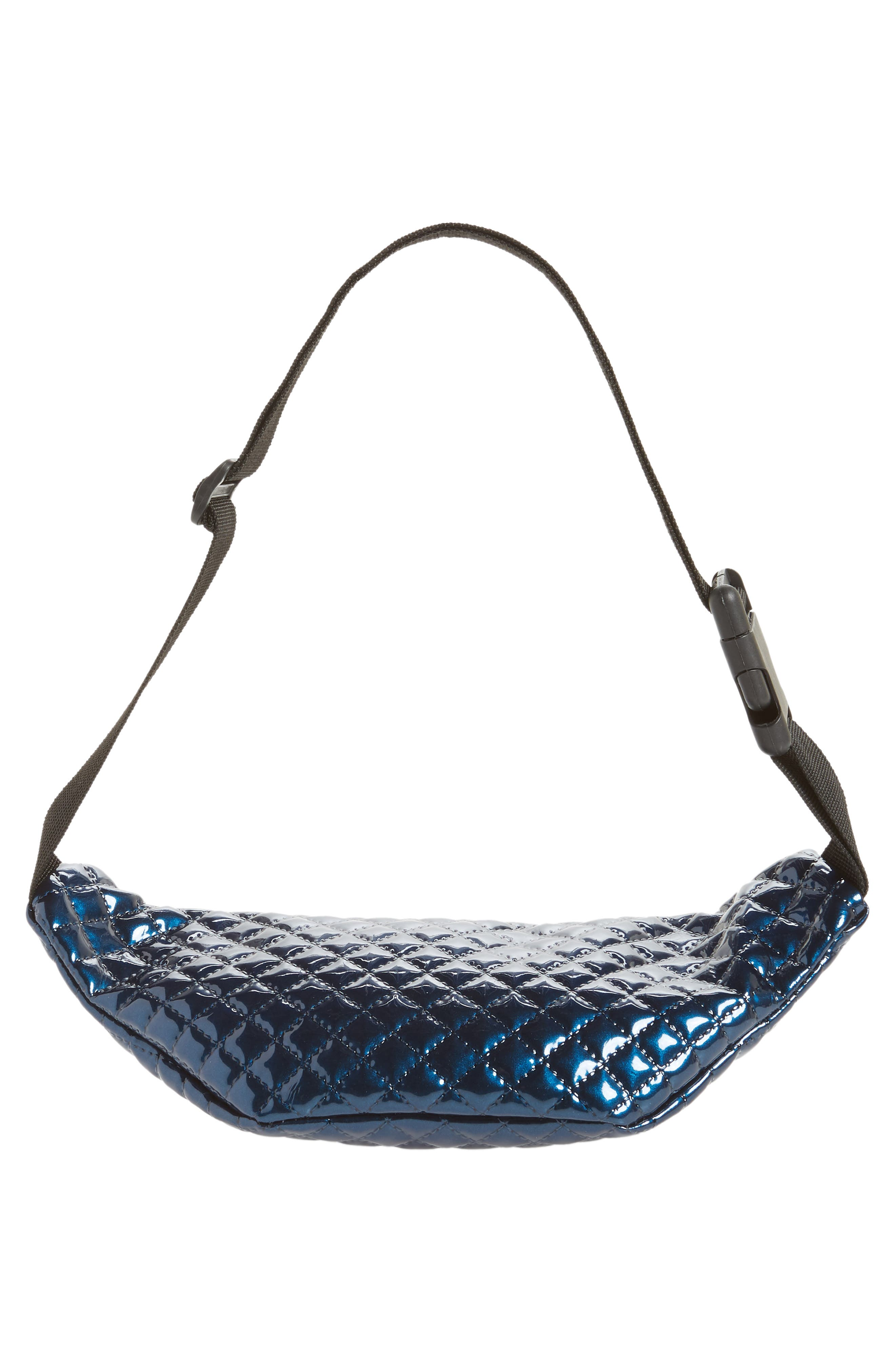 Chain Detail Quilted Belt Bag,                             Alternate thumbnail 7, color,                             400