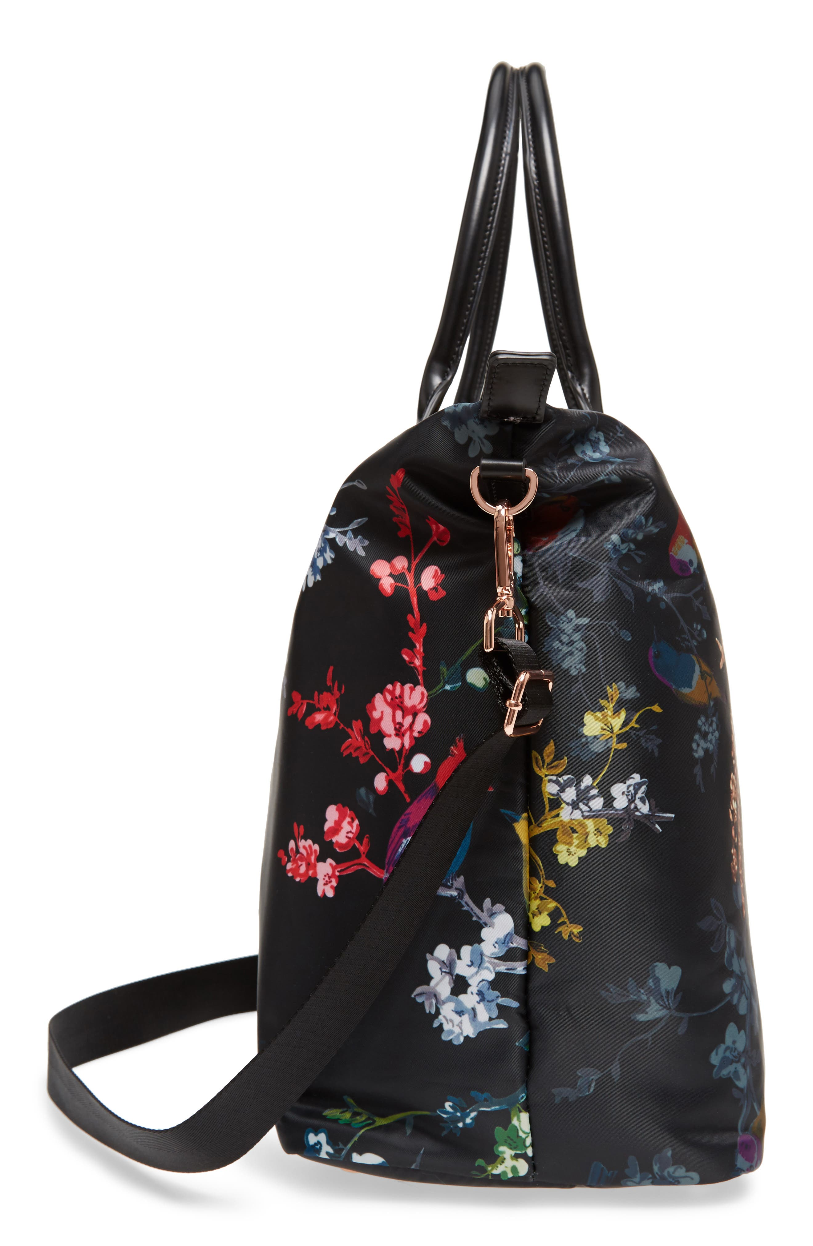 Large Opulent Fauna Tote,                             Alternate thumbnail 5, color,
