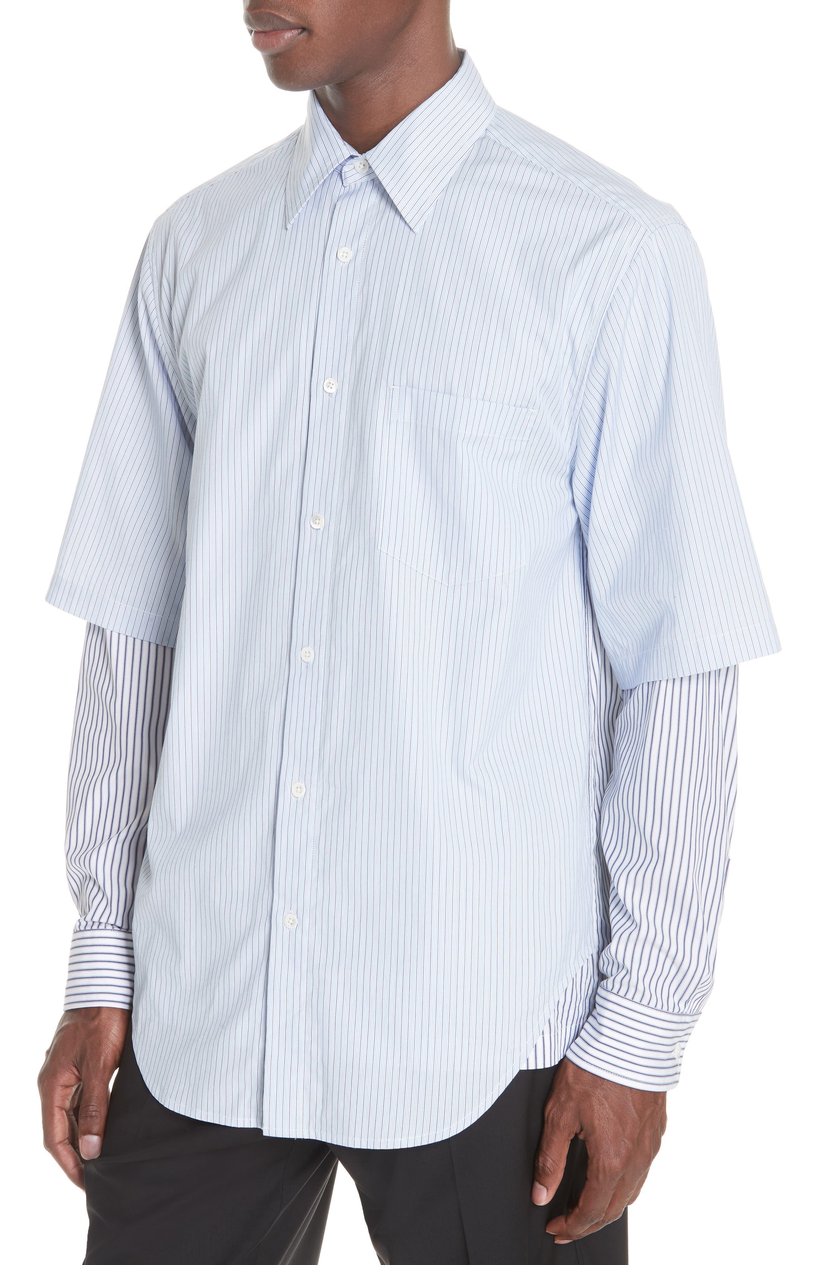Double Layer Woven Shirt,                             Alternate thumbnail 2, color,                             WHITE