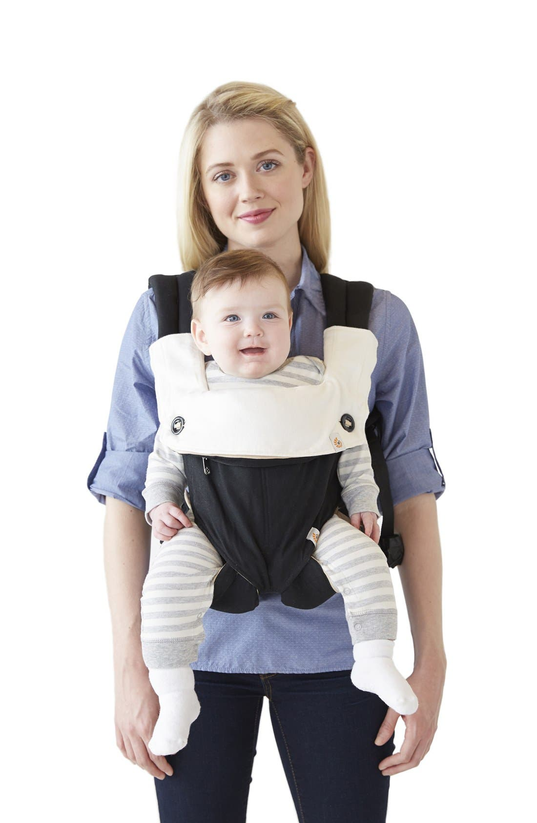 ERGOBABY,                             360 Carrier Teething Pad & Bib,                             Alternate thumbnail 2, color,                             NATURAL