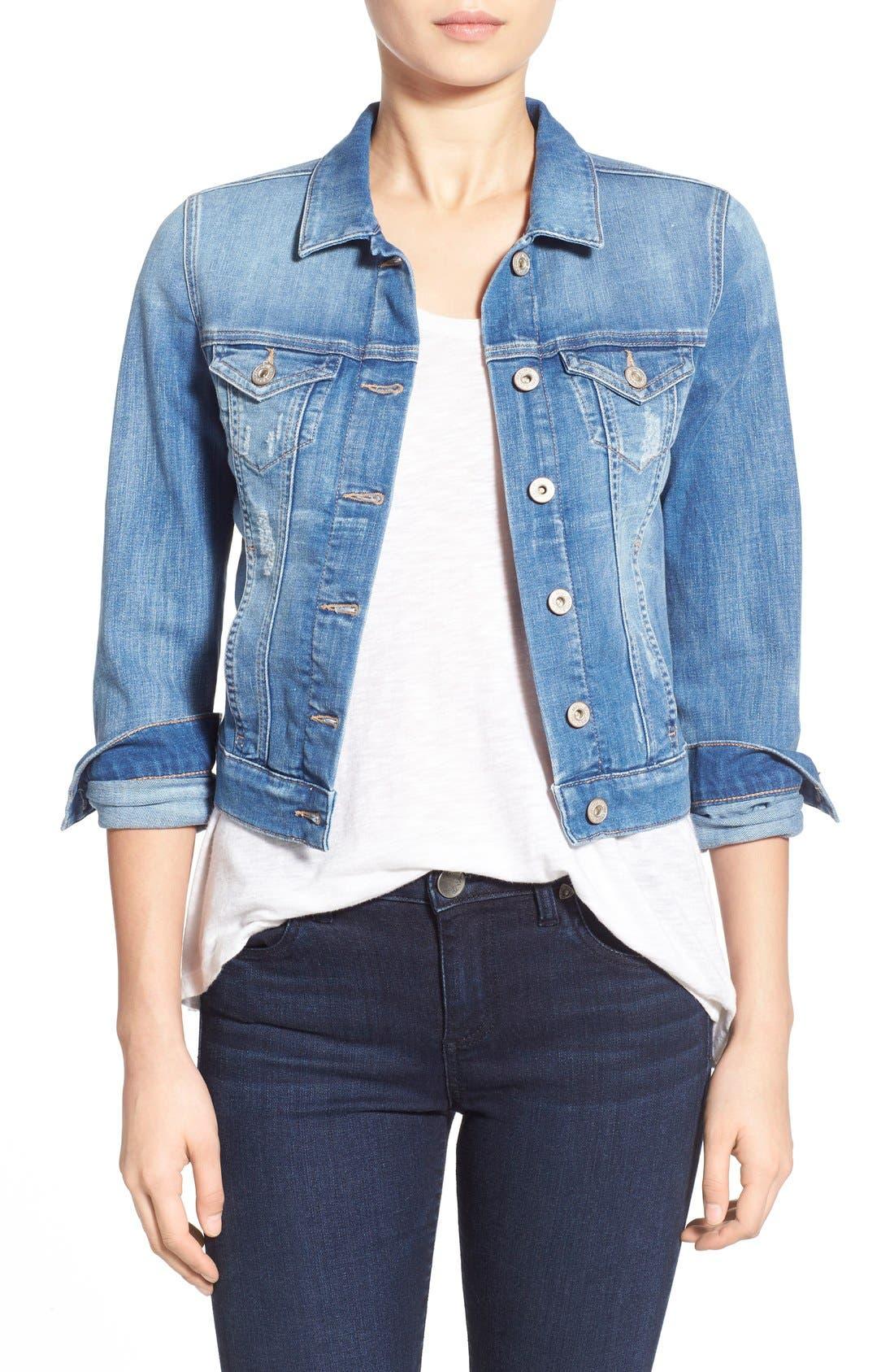 'Samantha' Denim Jacket, Main, color, 450