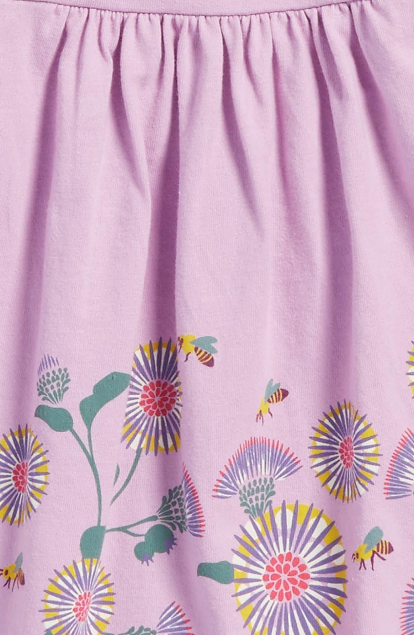 Thistle Print Dress,                             Alternate thumbnail 3, color,                             535