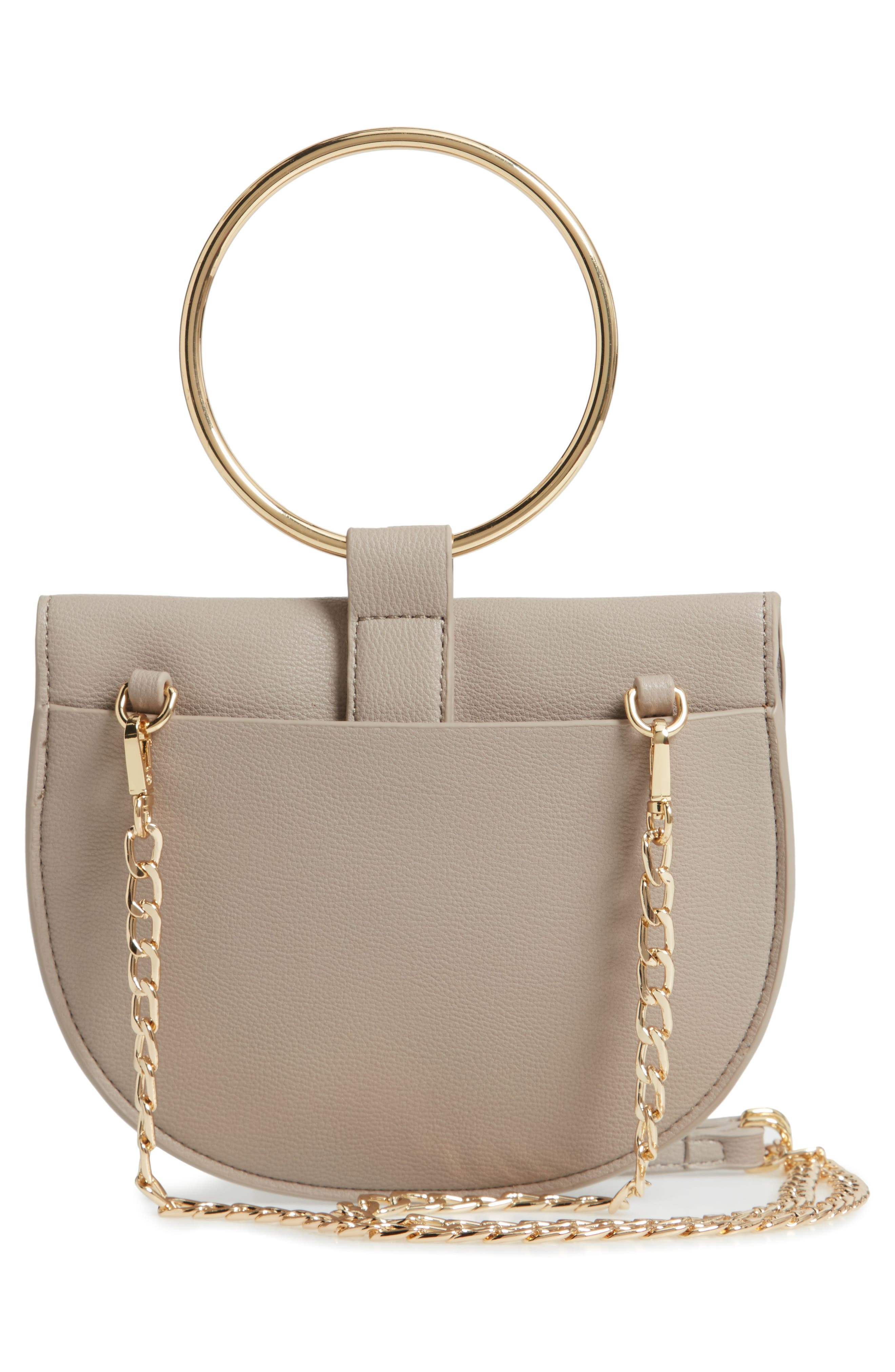 Reese Ring Crossbody Bag,                             Alternate thumbnail 3, color,                             GREY FLINT