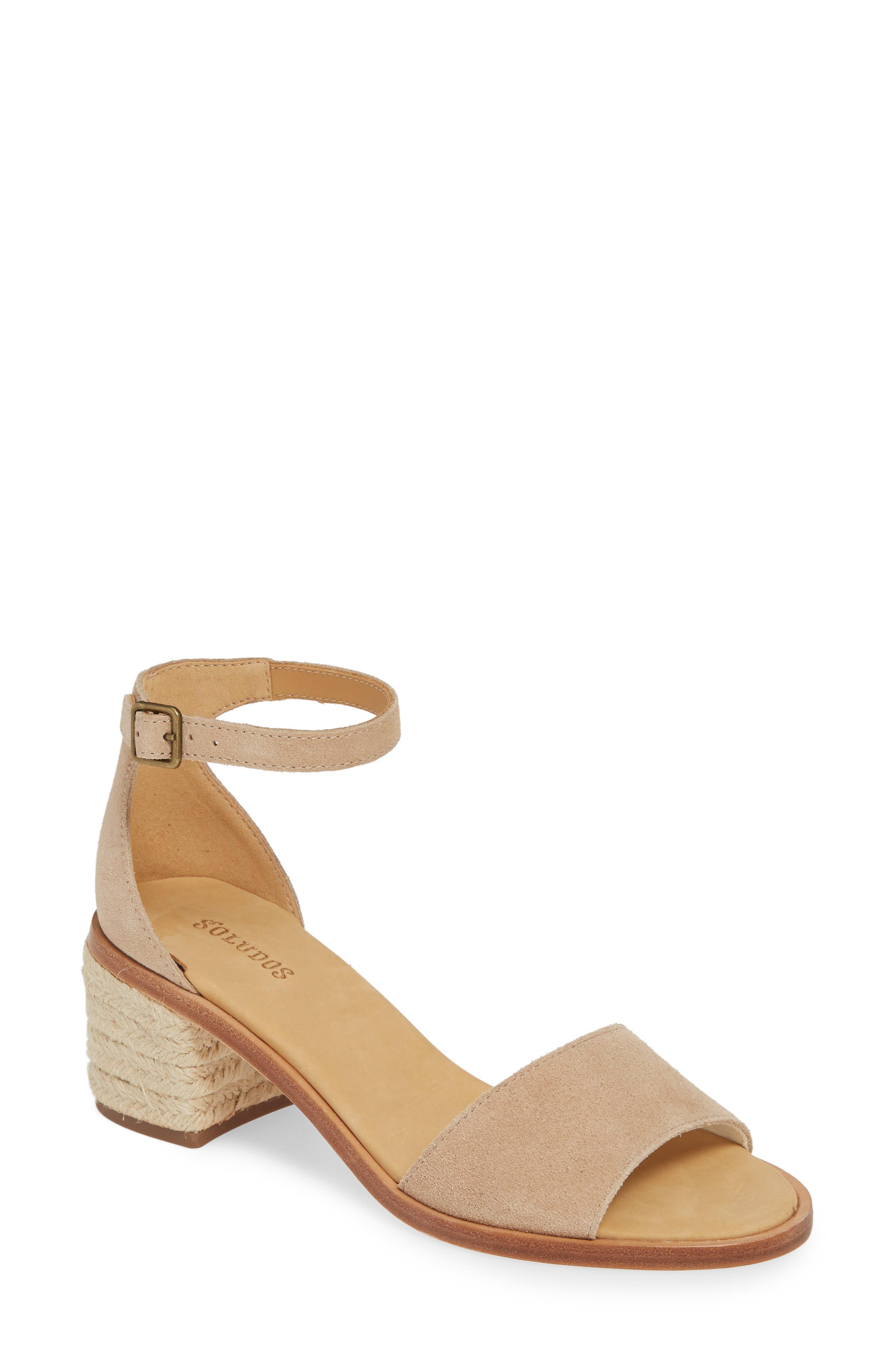 Soludos Capri Espadrille Heel Sandal, Pink