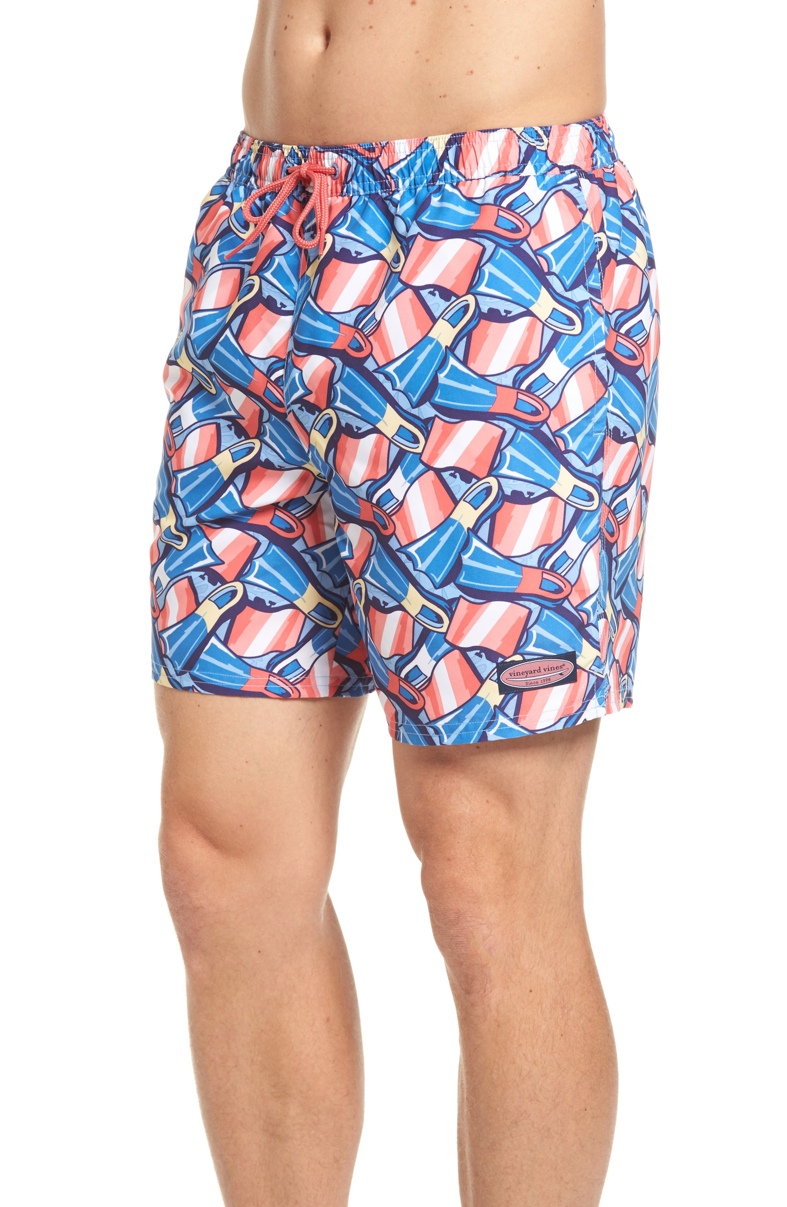 Flippers Chappy Swim Trunks,                             Alternate thumbnail 3, color,                             437